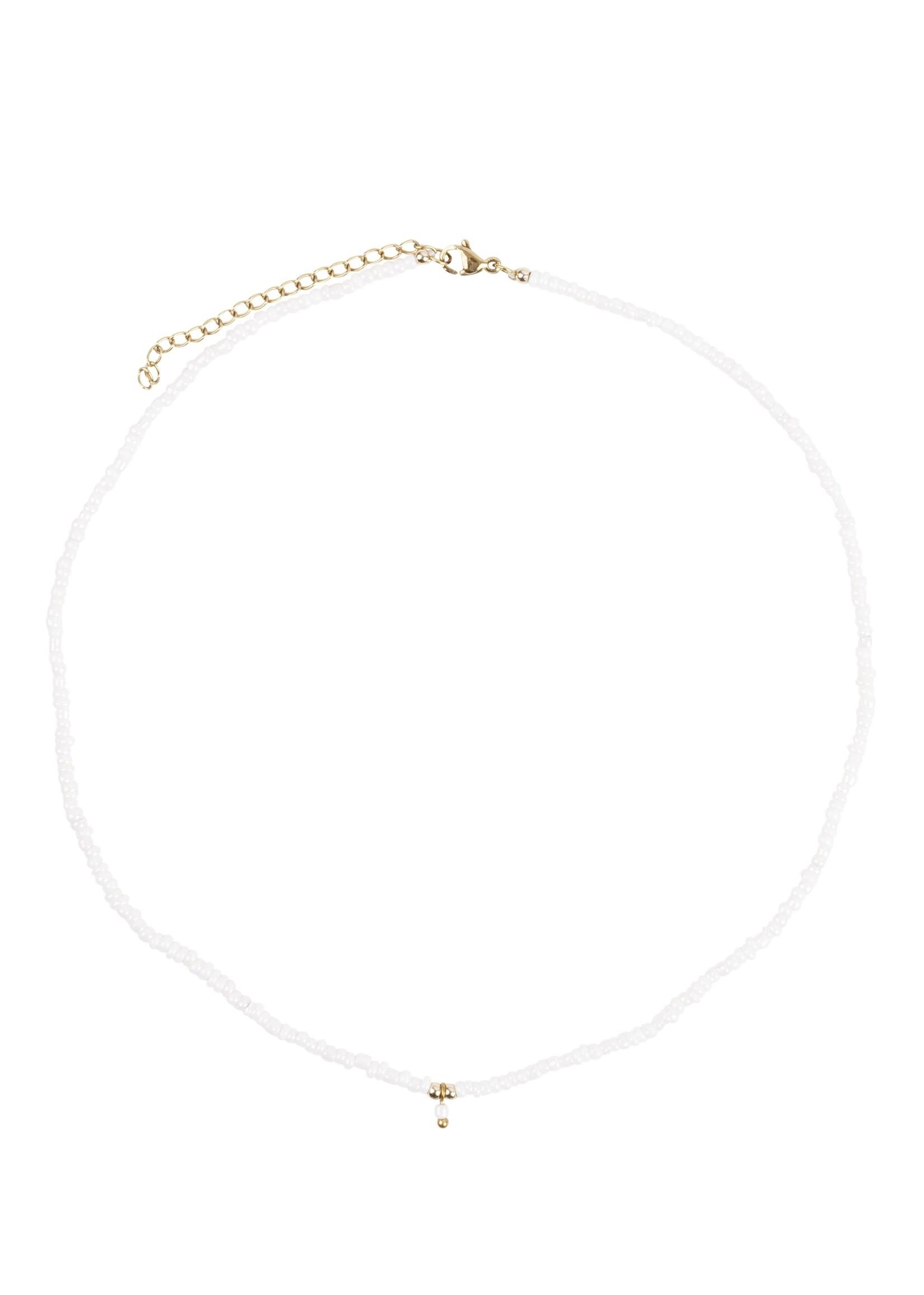 ZUSSS ketting met kraaltjes wit/goud