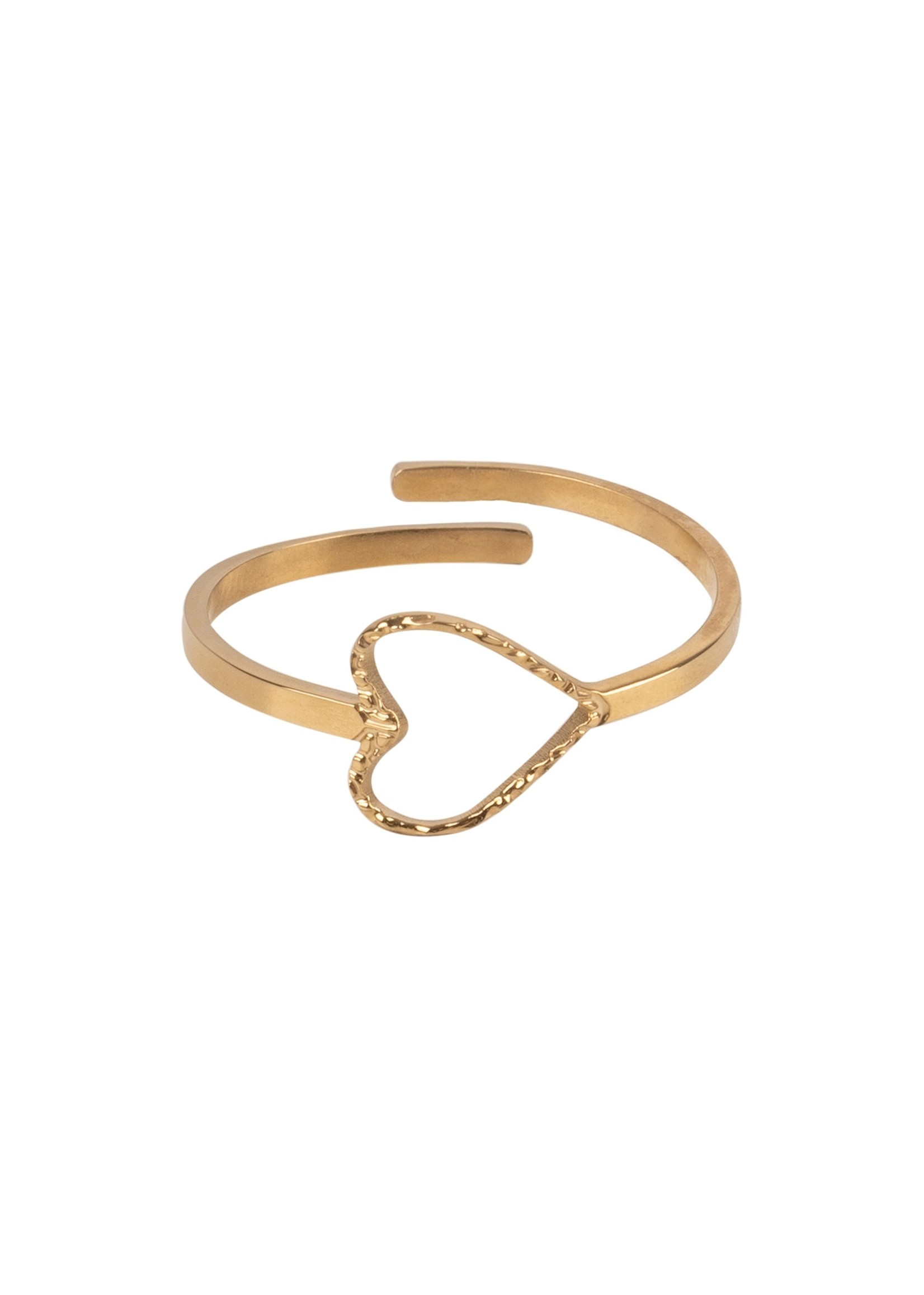 ZUSSS ring hartje goud