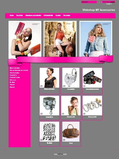 Eerste webhop MY Accessories