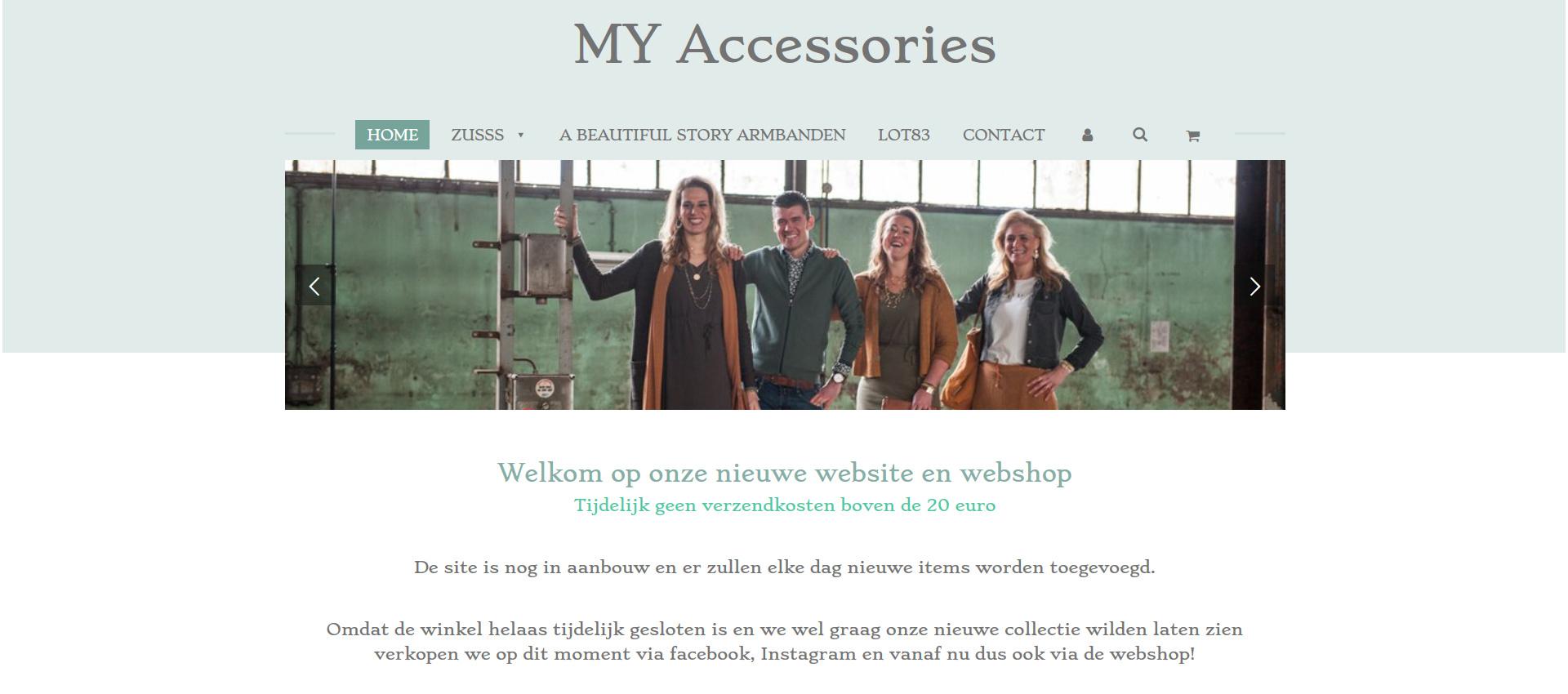 Tweede webshop MY Accessories