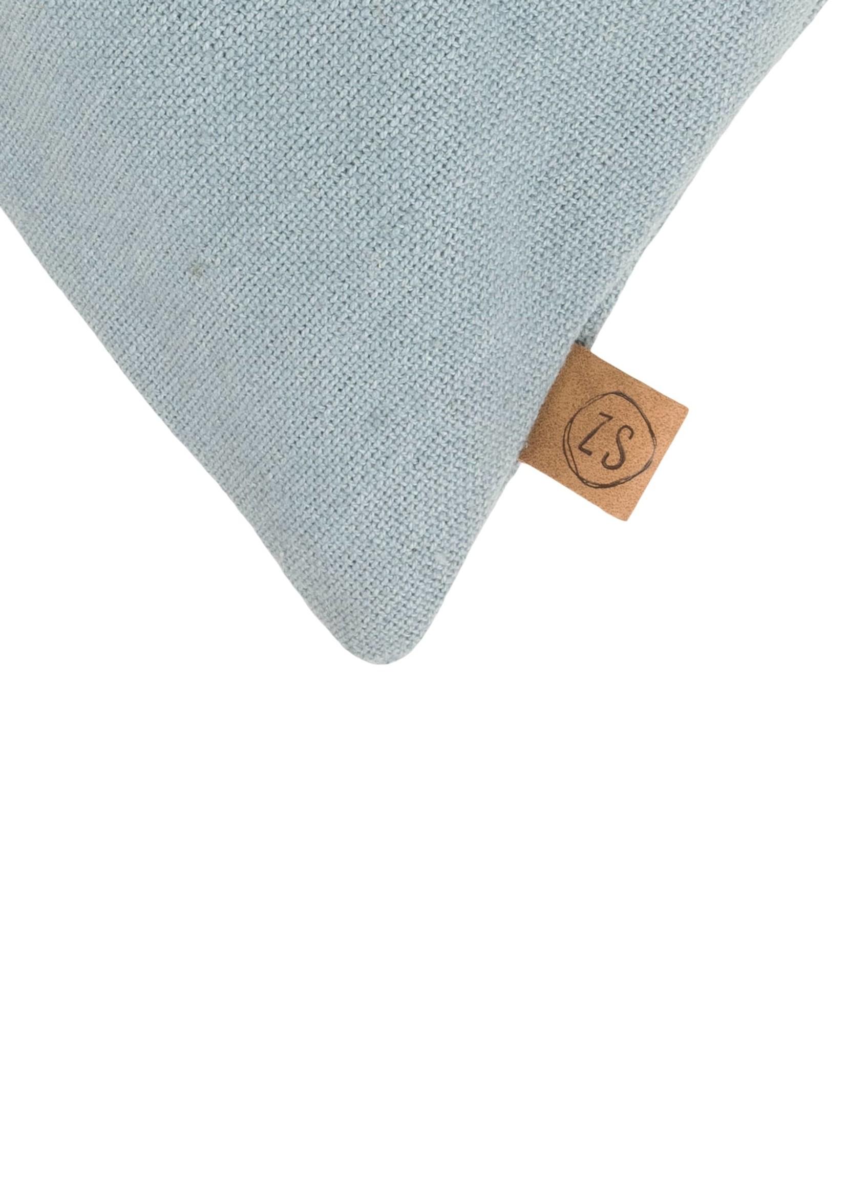 ZUSSS kussen takje 45x45cm grijs-blauw