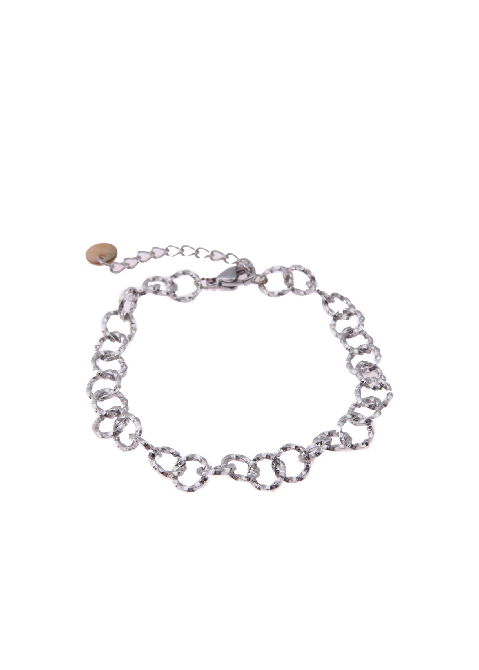 Armband zilver ronde schakel  B0428-1