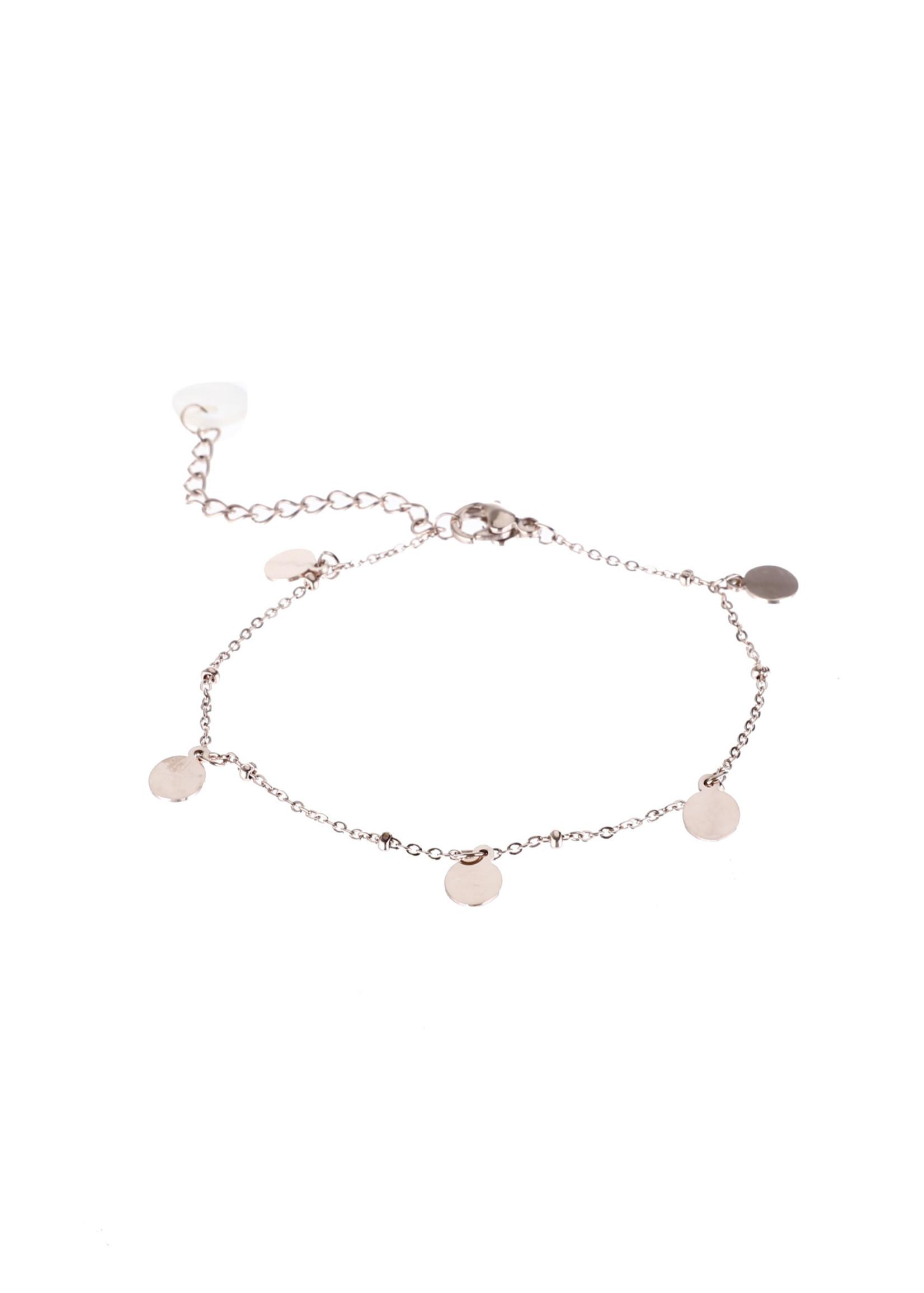 Armband rosé-goud muntjes B9313-3