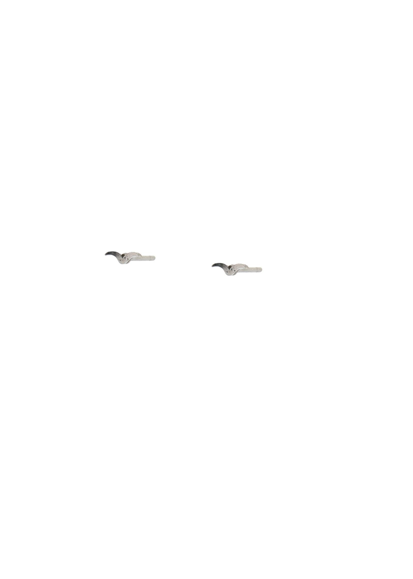 Oorbel zilver grote sierlijke V E0496-1