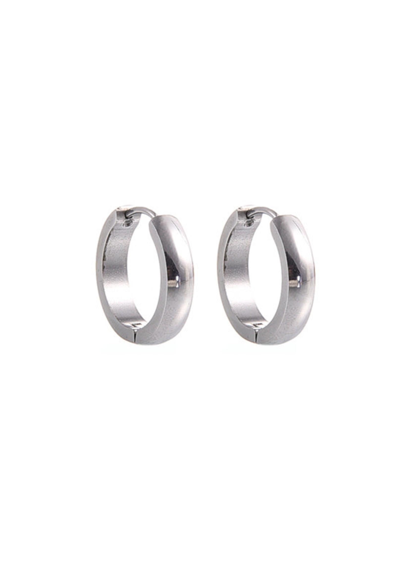 Oorbel zilver creool 18 mm E7004-1