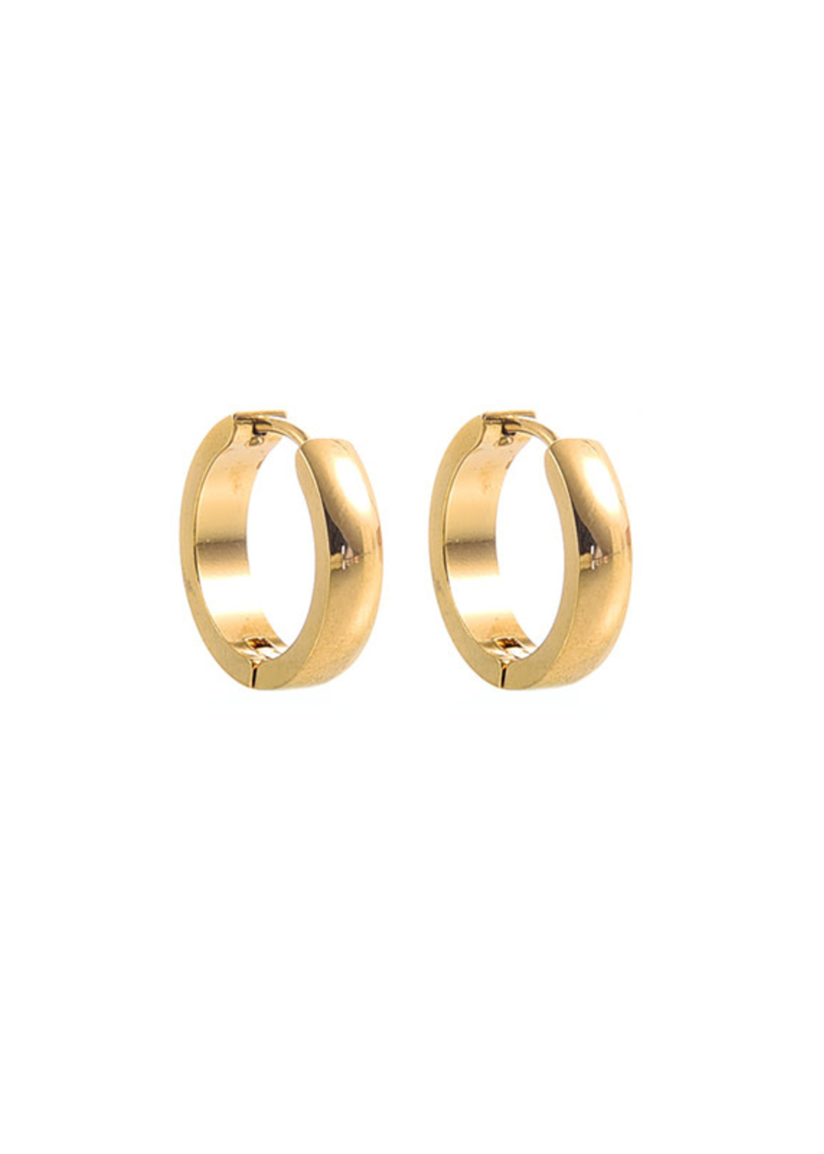 Oorbel goud creool 18mm E7004-2