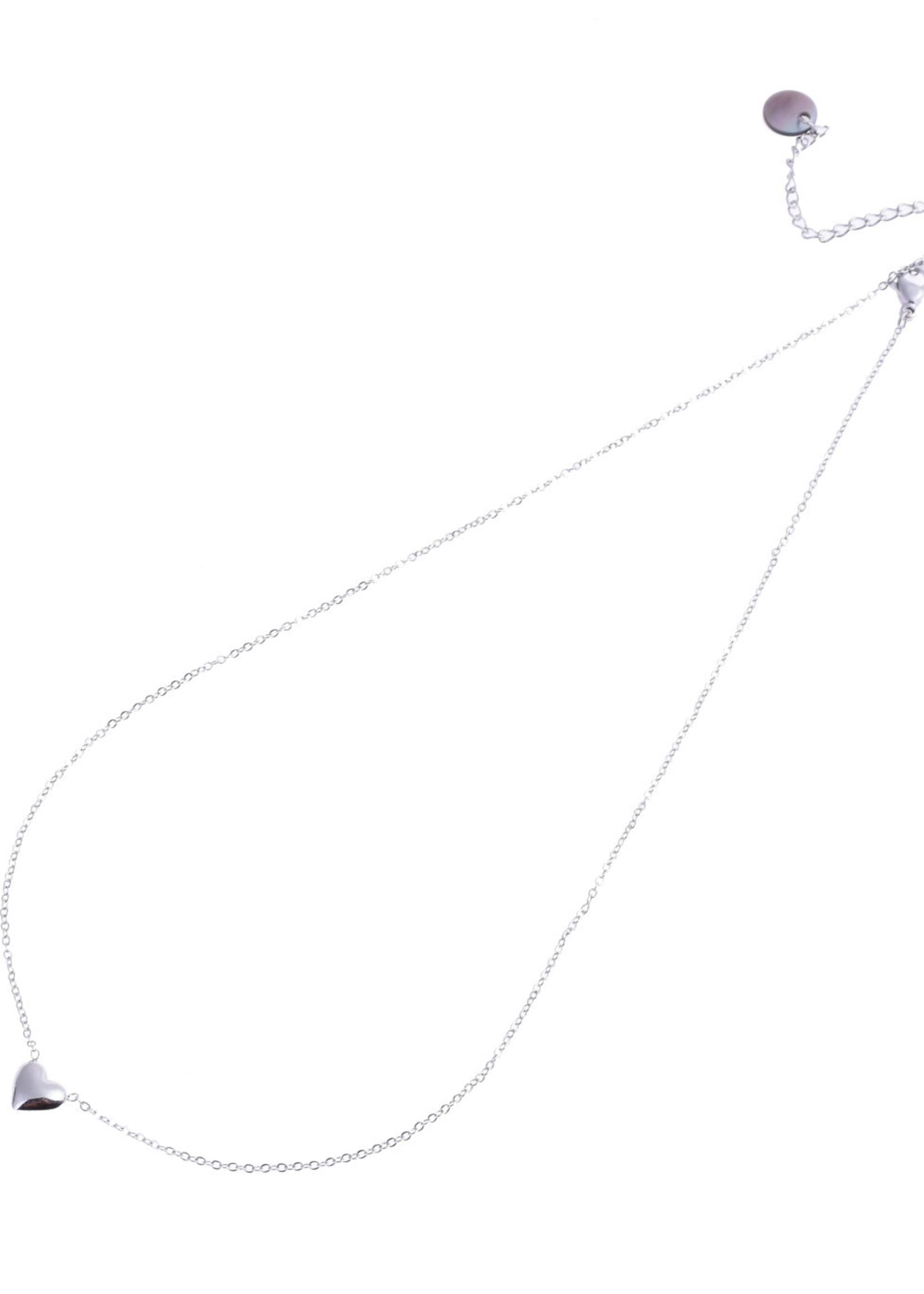 Ketting zilver hartje N8829-1