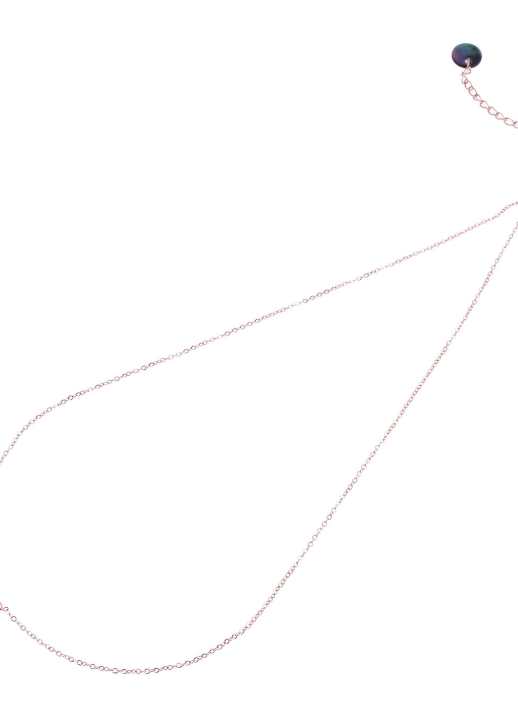 Ketting rosé-goud hartje N8829-3