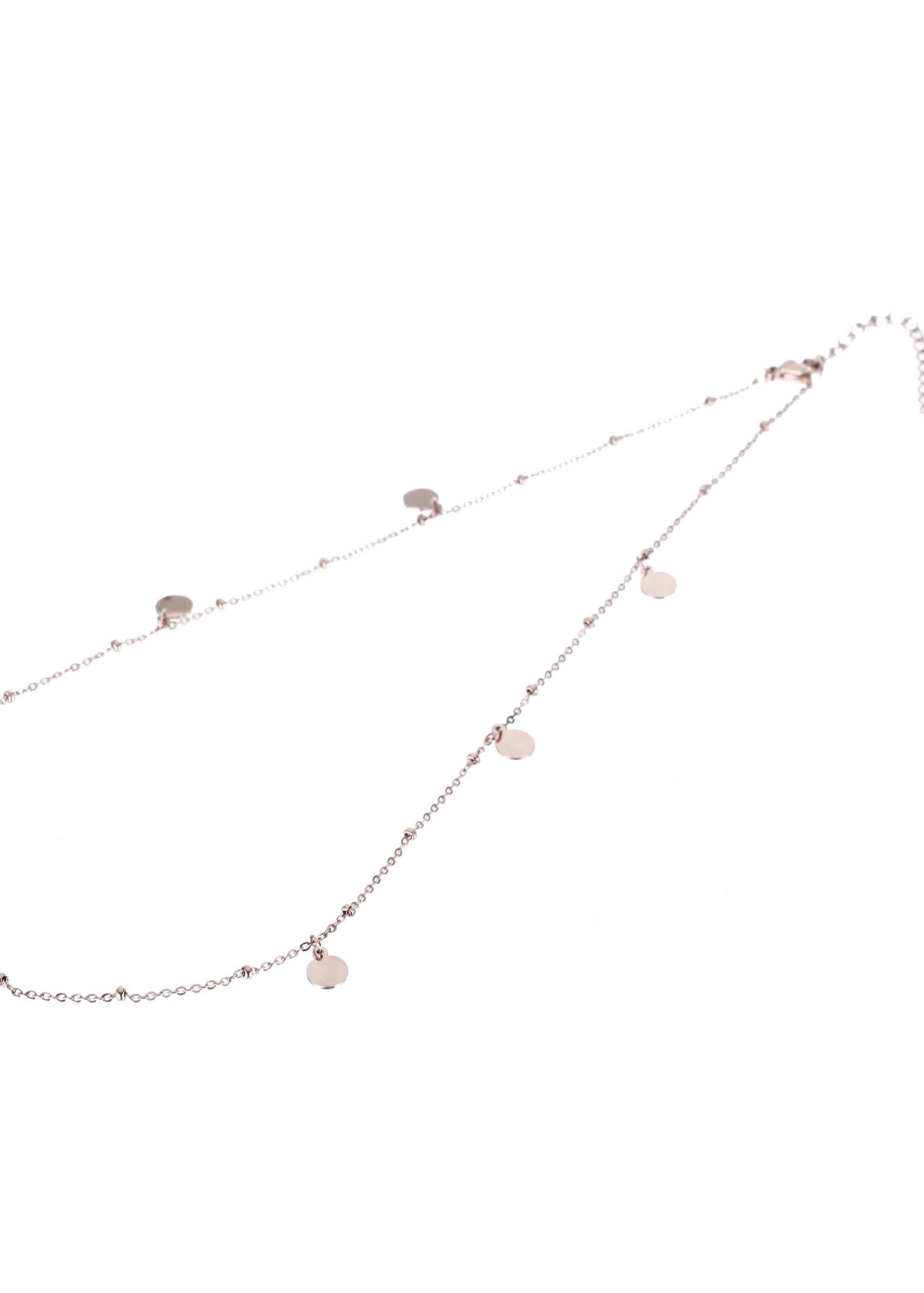 Ketting rosé-goud muntjes N9319-3