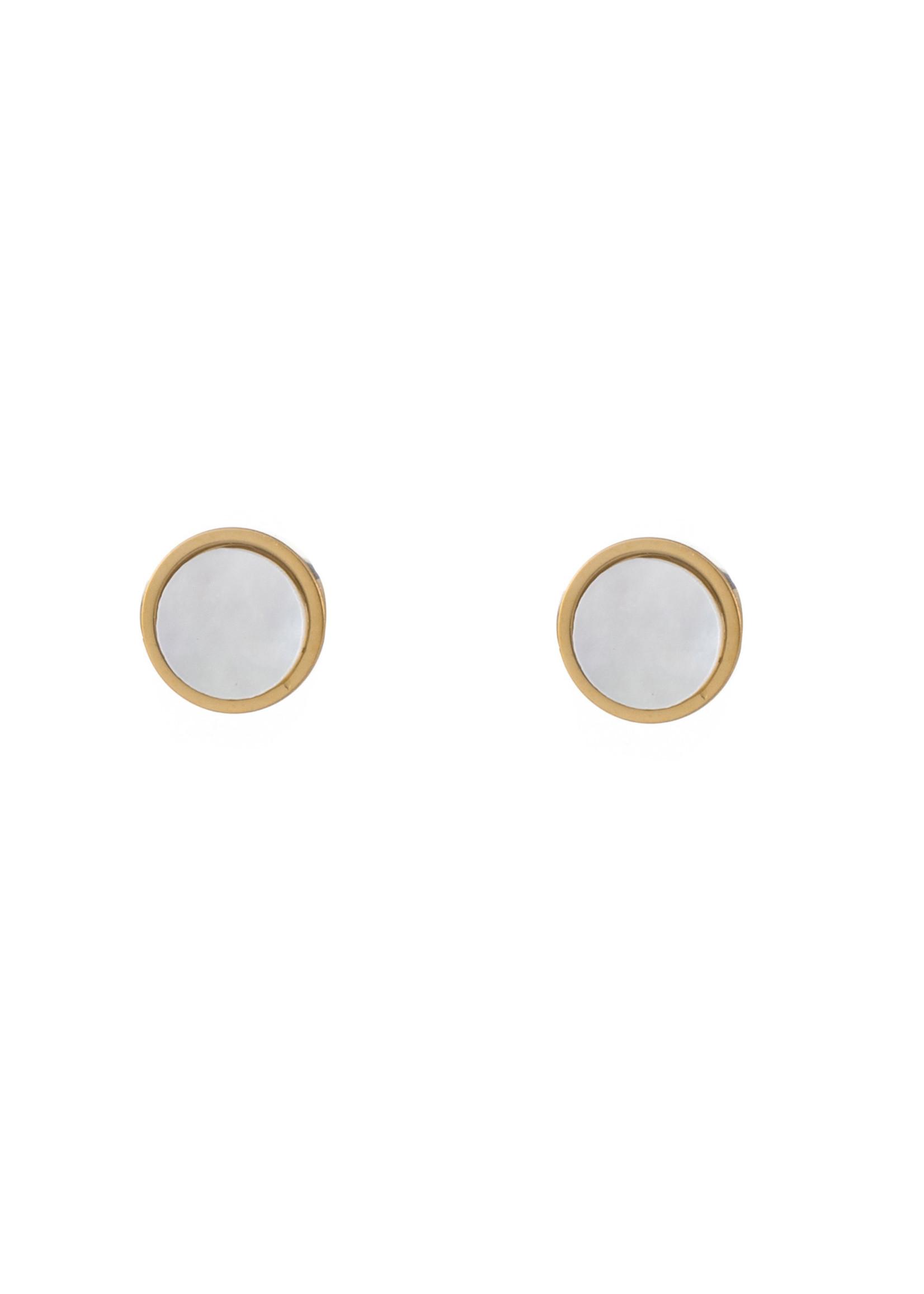 Oorbel goud met parel E1265-4