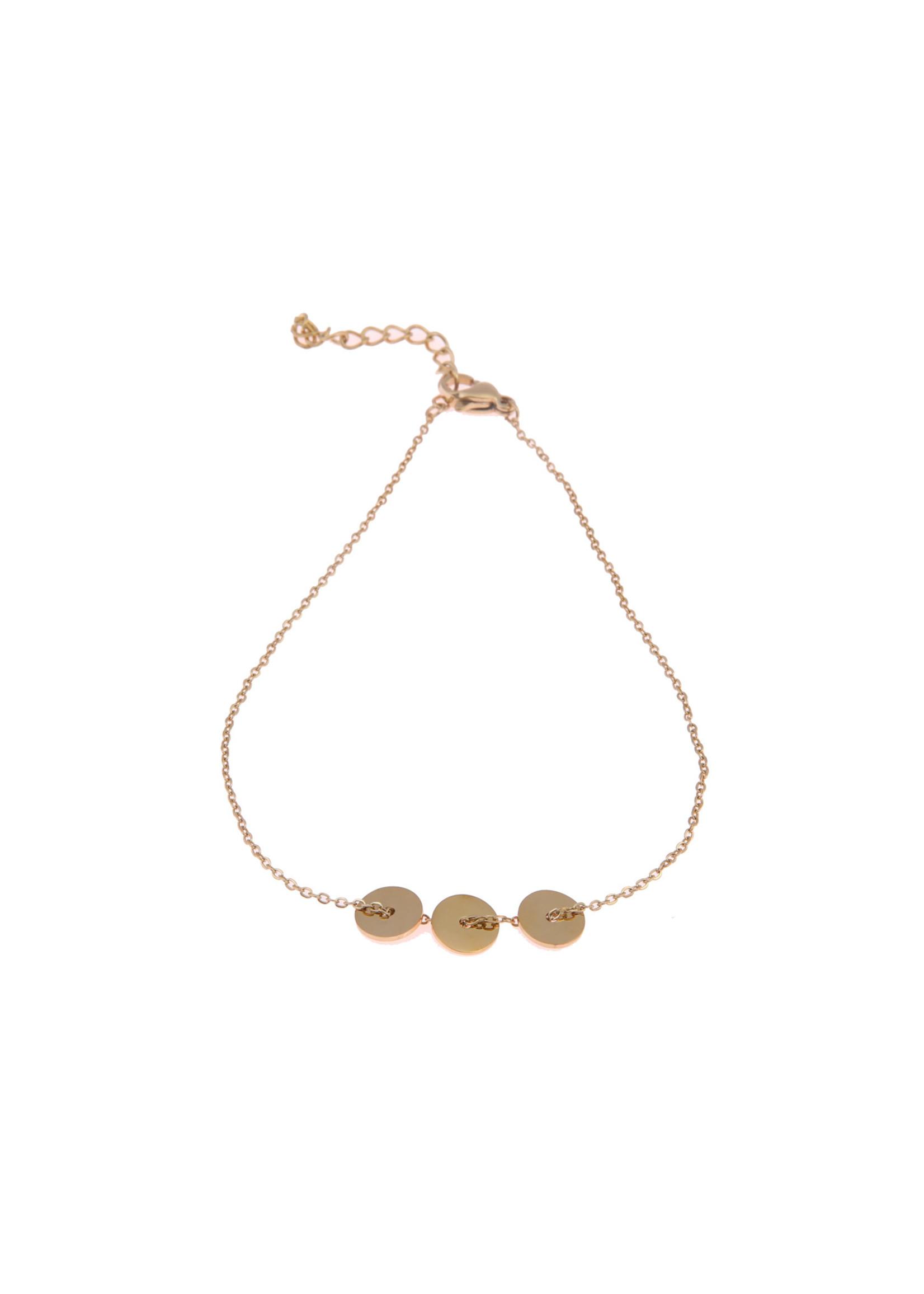 Enkelbandje goud rondjes A0415-2
