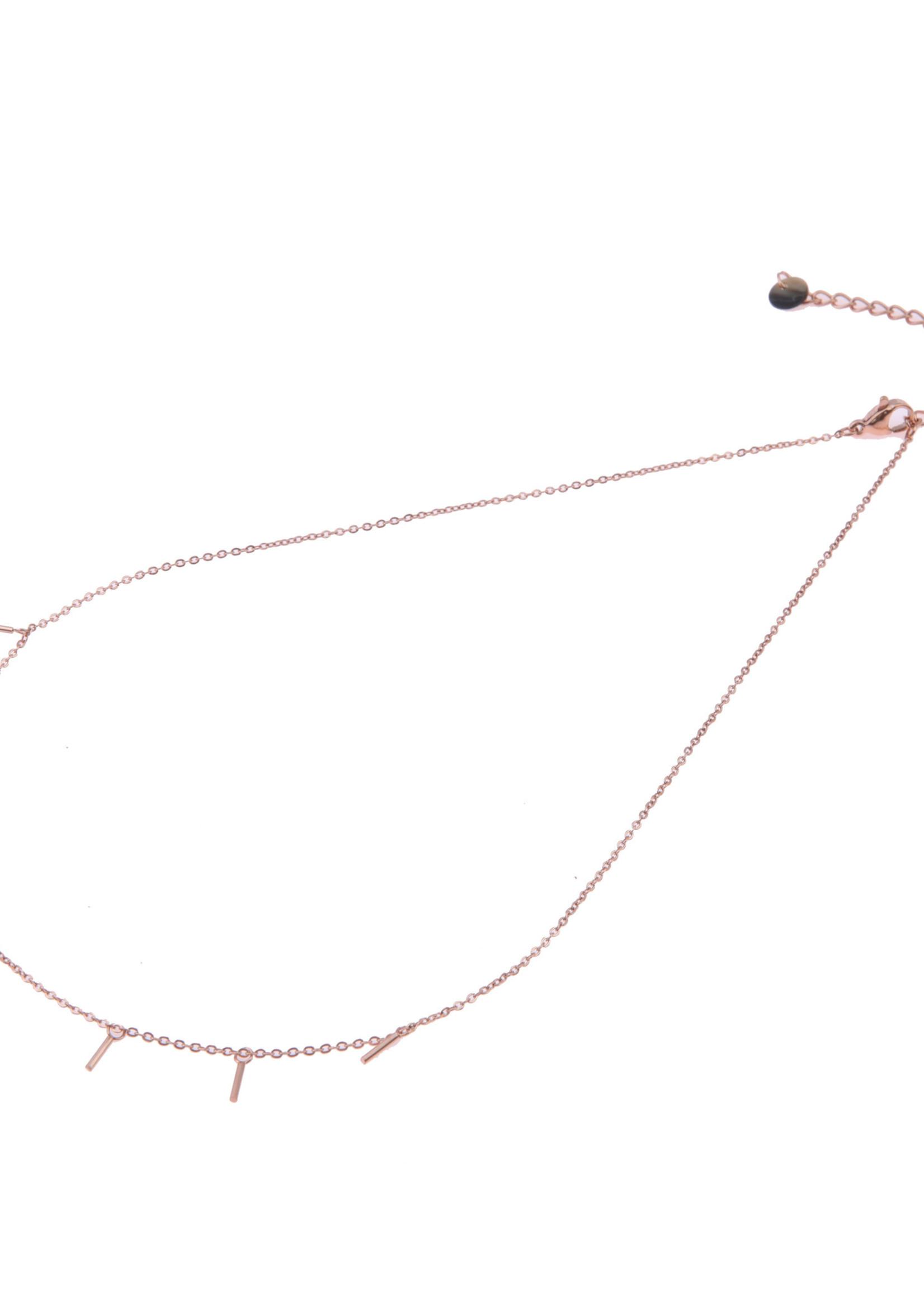 Ketting rosé-goud staafjes N0419-3