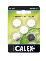Calex Calex Knoopcel Lithium CR2032 3V, kaart 5 stuks