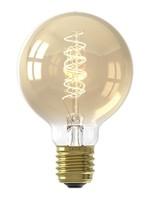 Calex Calex LED Flex Filament Globelamp G80 220-240V 4W E27 200lm 2100K Goud, dimbaar, energielabel A