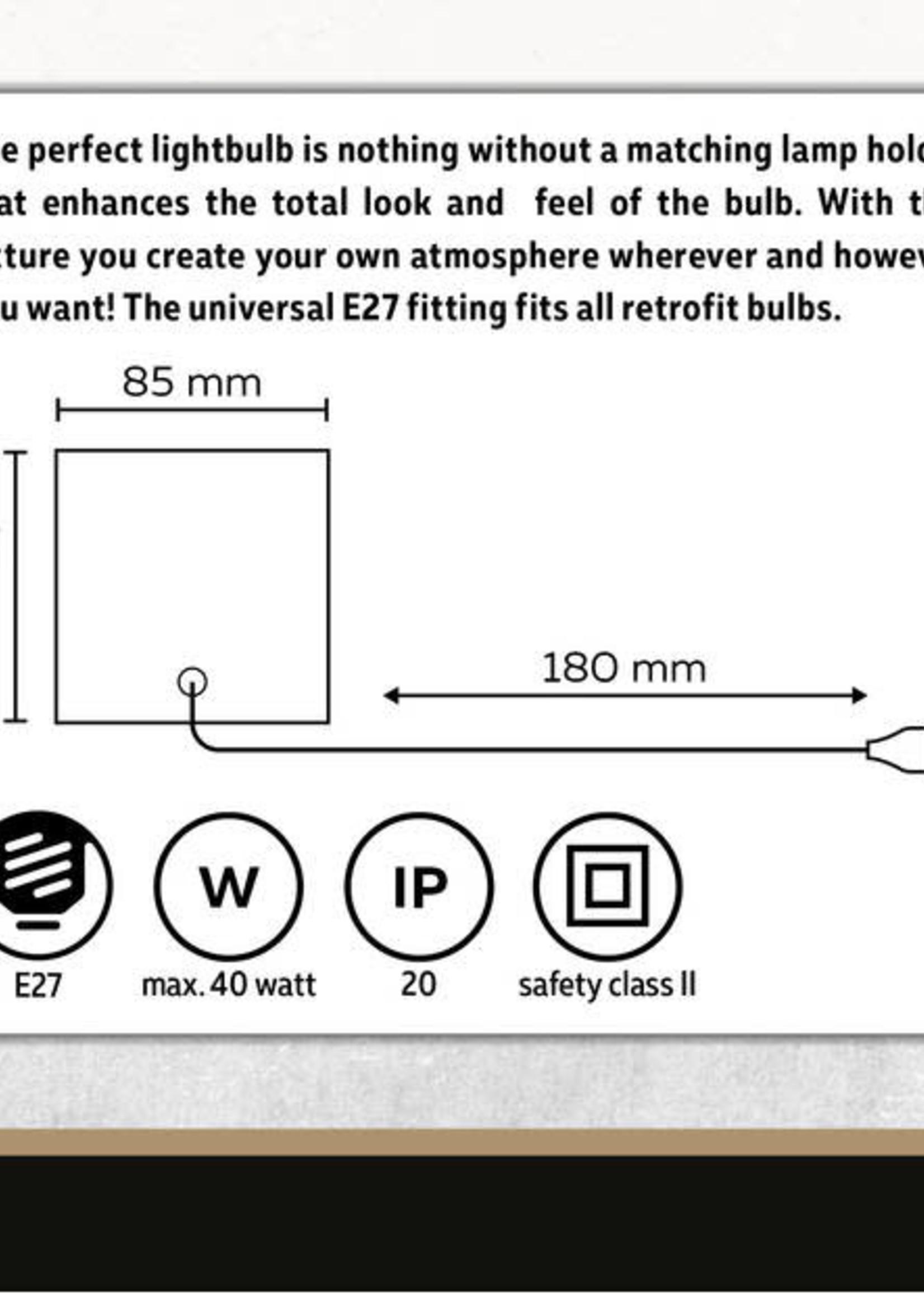 Calex Calex tafelarmatuur E27 met schakelaar max. 1*40W, 1,8M snoer mat zwart