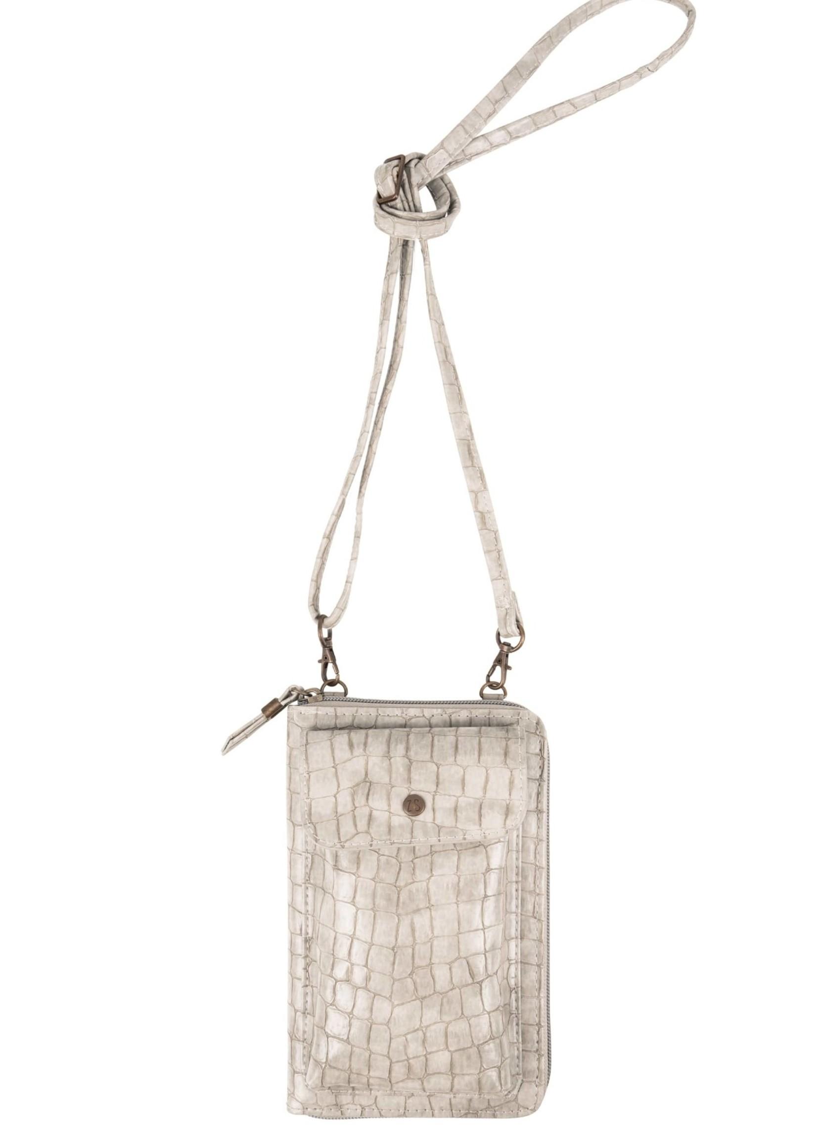 ZUSSS handig portemonnee-telefoontasje kroko zand