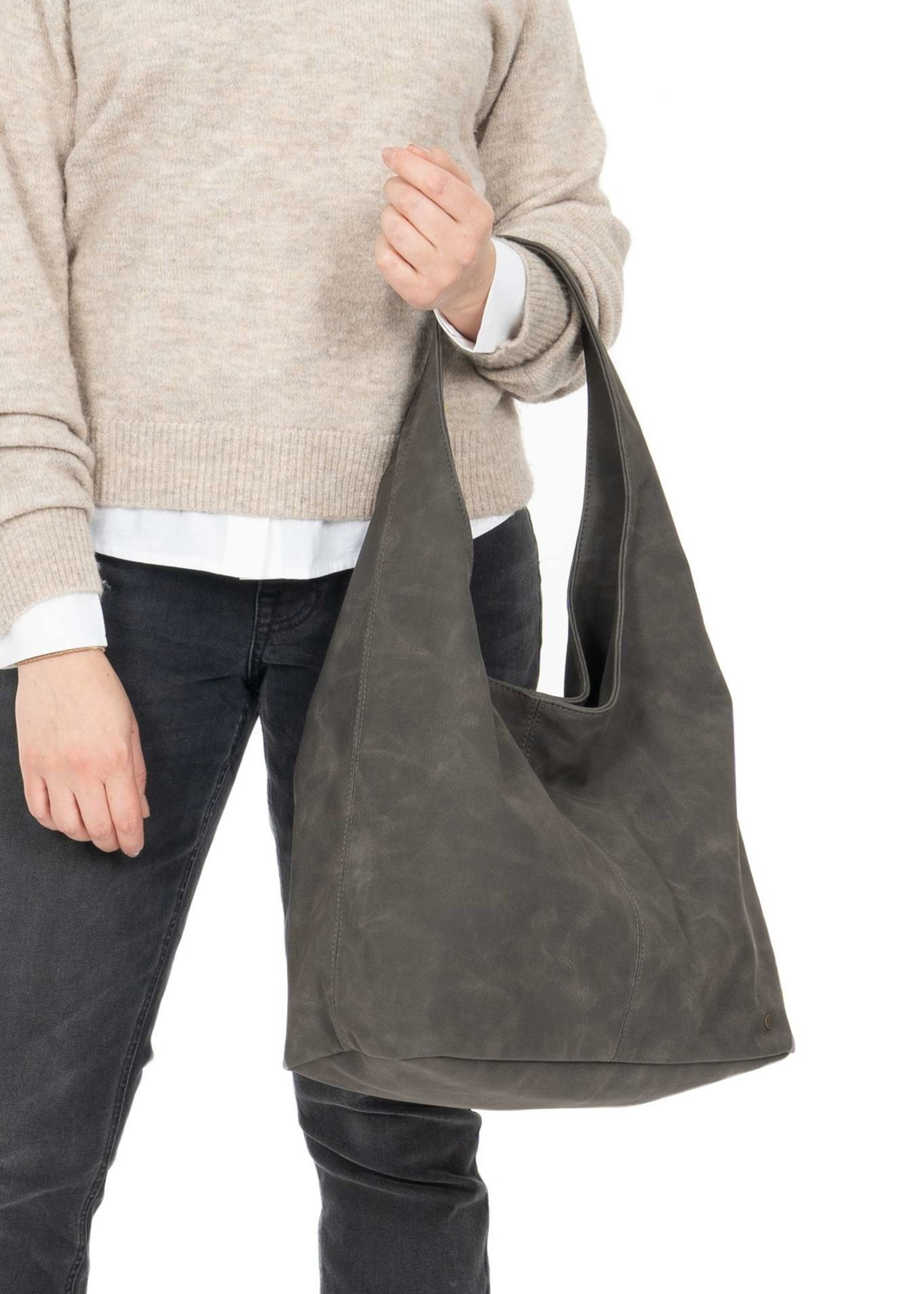 ZUSSS trendy shopper antracietgrijs