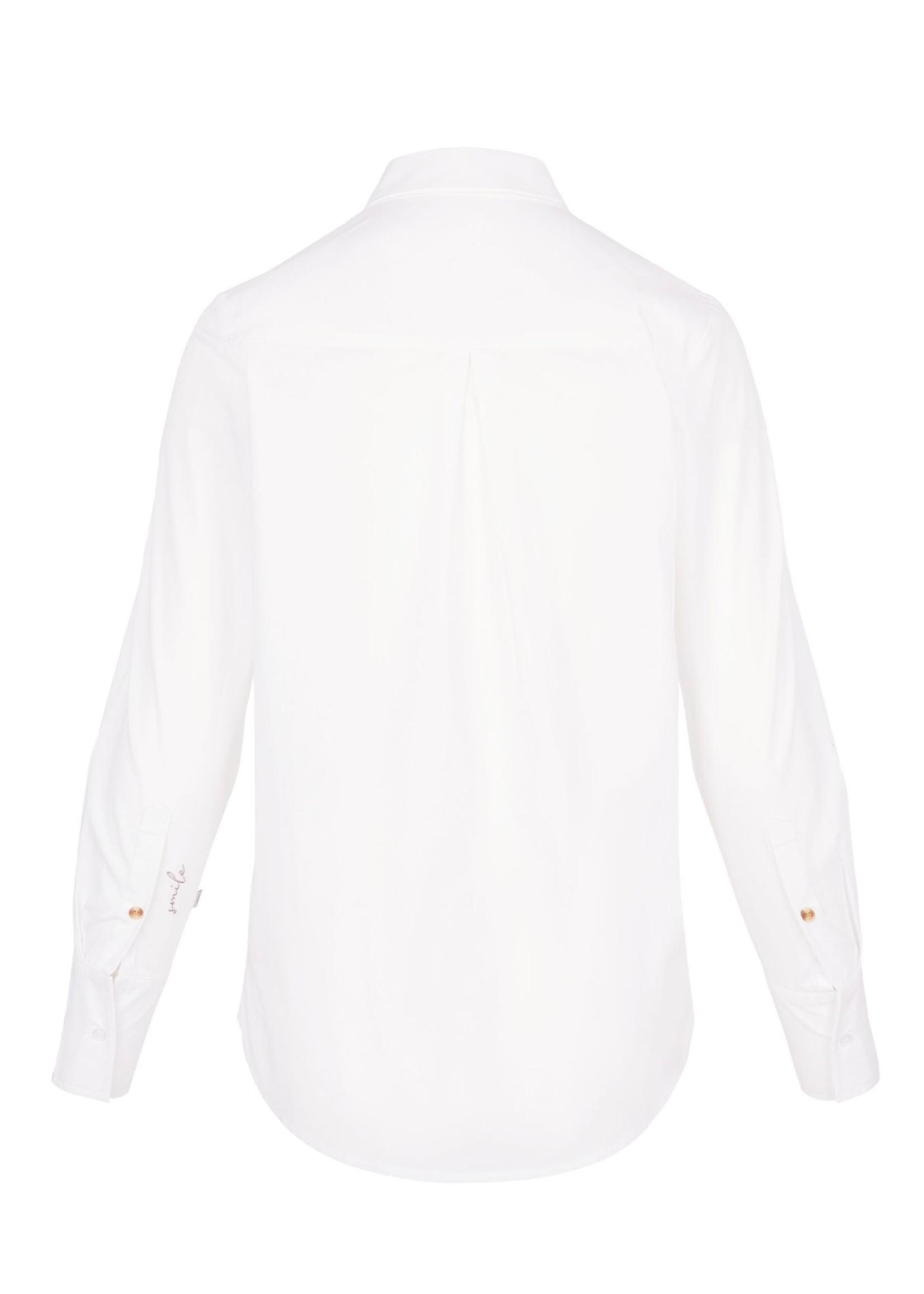 ZUSSS basic witte blouse