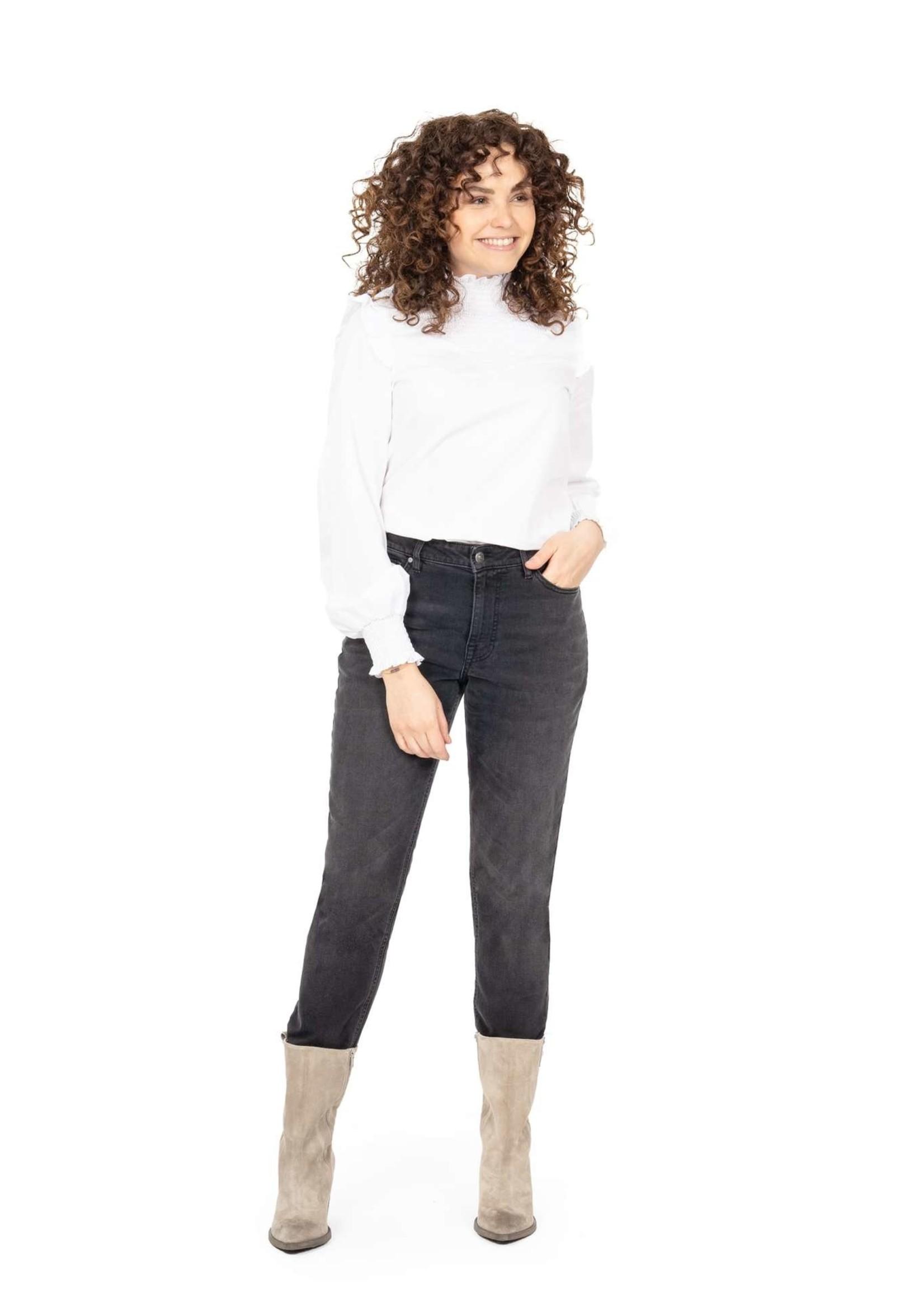 ZUSSS blouse met gesmokte details wit
