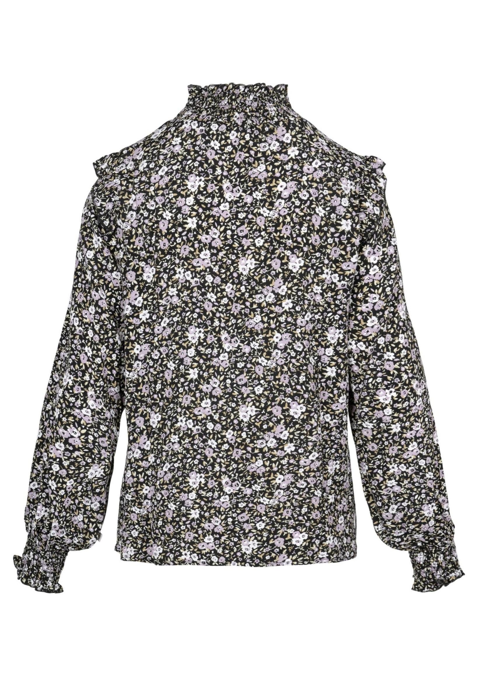 ZUSSS blouse met gesmokte details bloemenprint