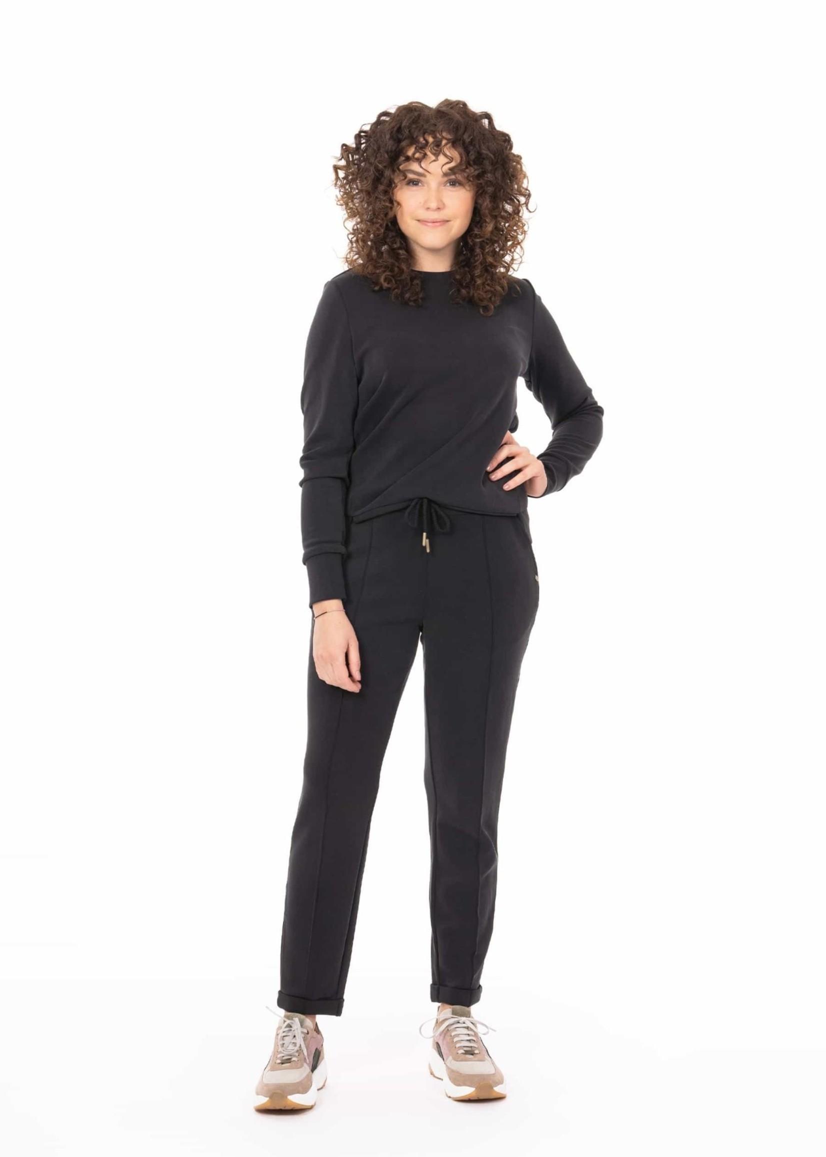 ZUSSS fijne sweater off-black