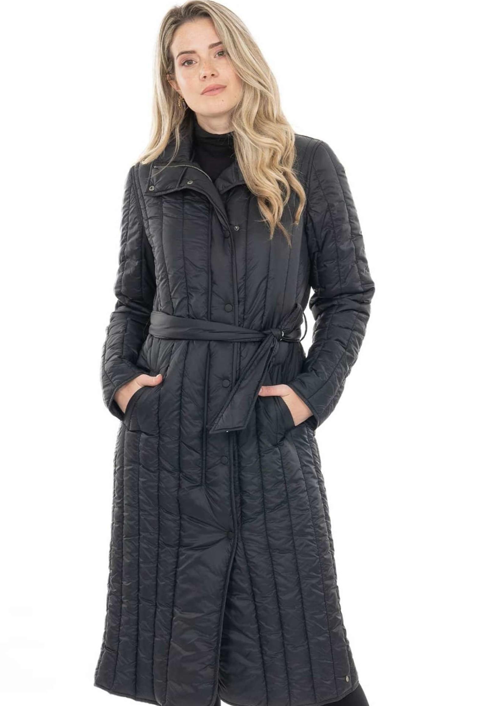 ZUSSS gewatteerde winterjas zwart