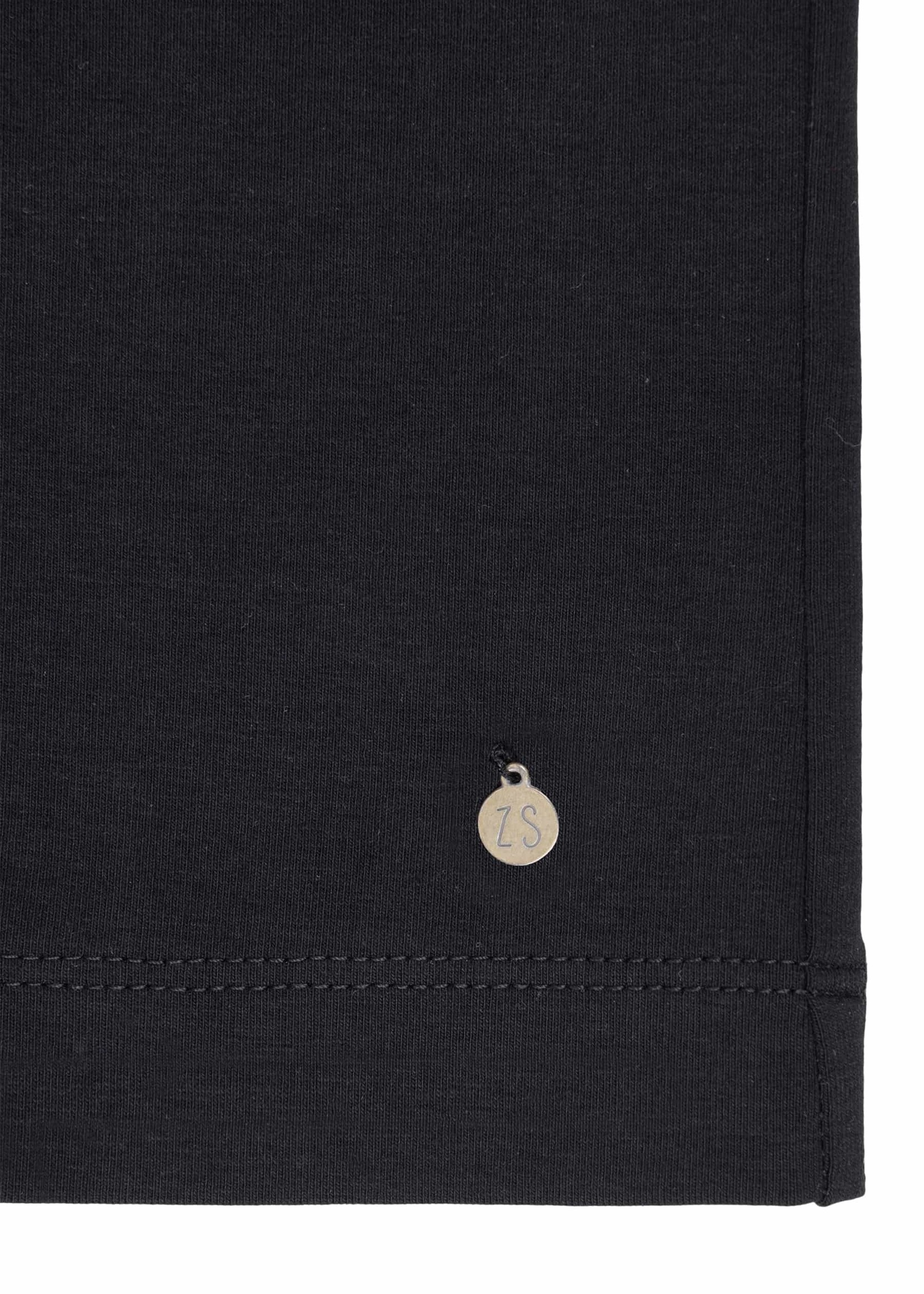 ZUSSS basic jurk met col zwart