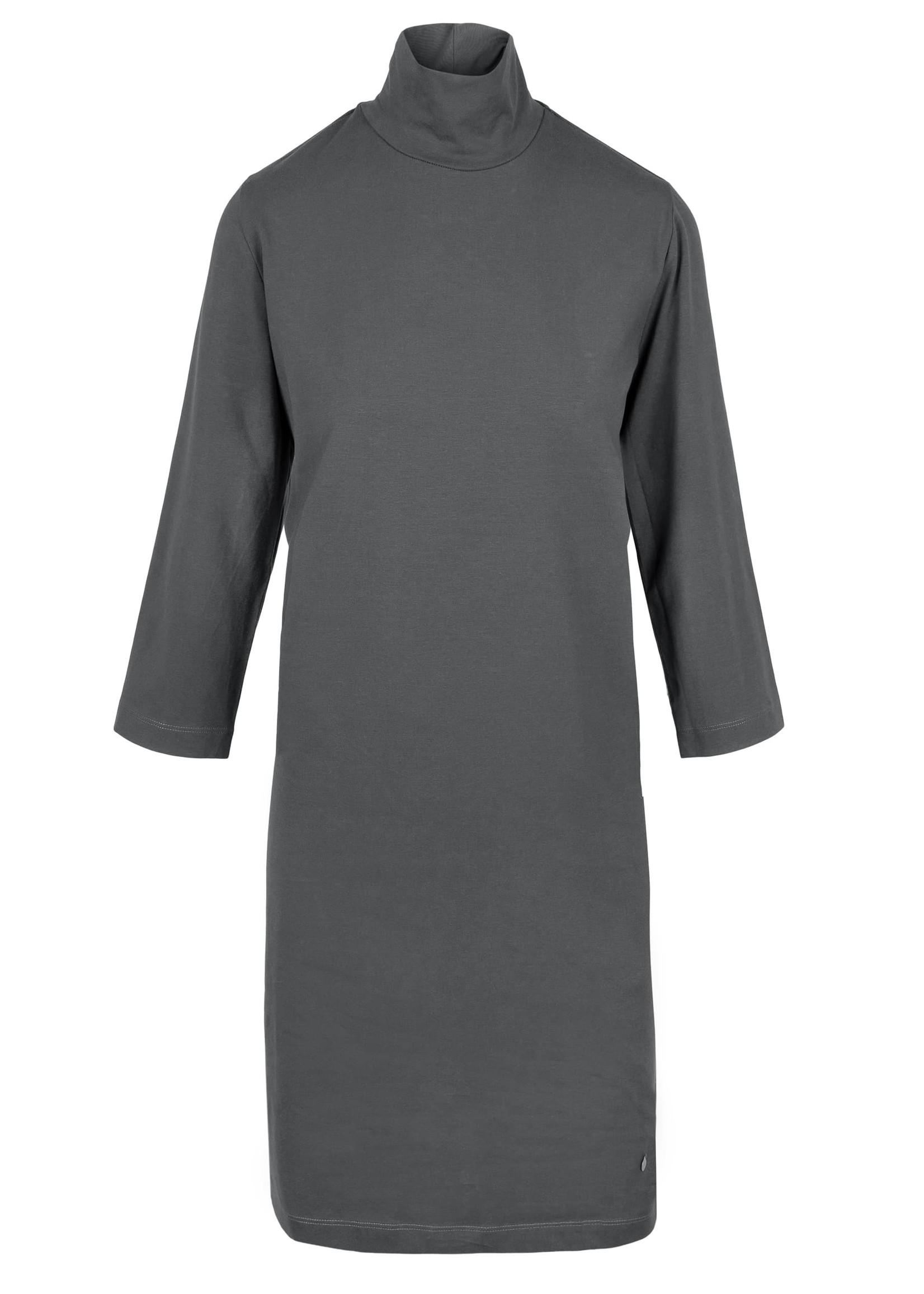 ZUSSS basic jurk met col antracietgrijs