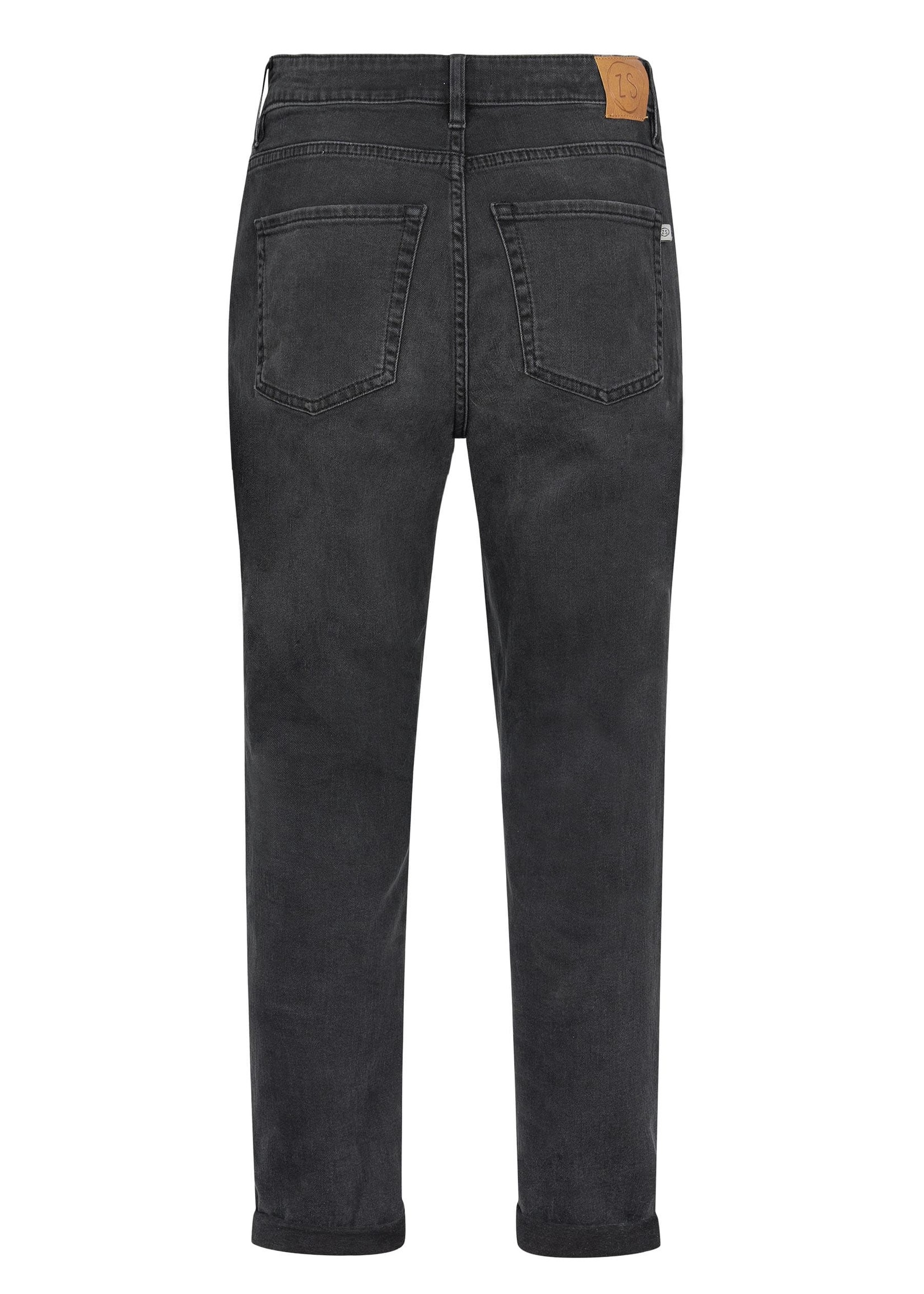 ZUSSS mom jeans off black