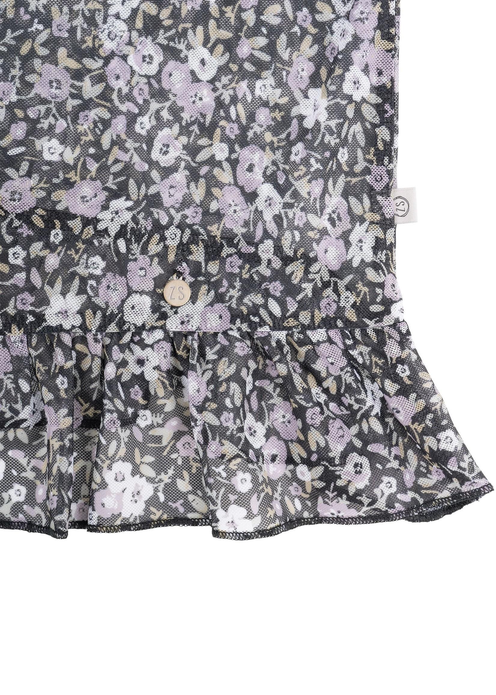 ZUSSS rok met ruffle bloemenprint