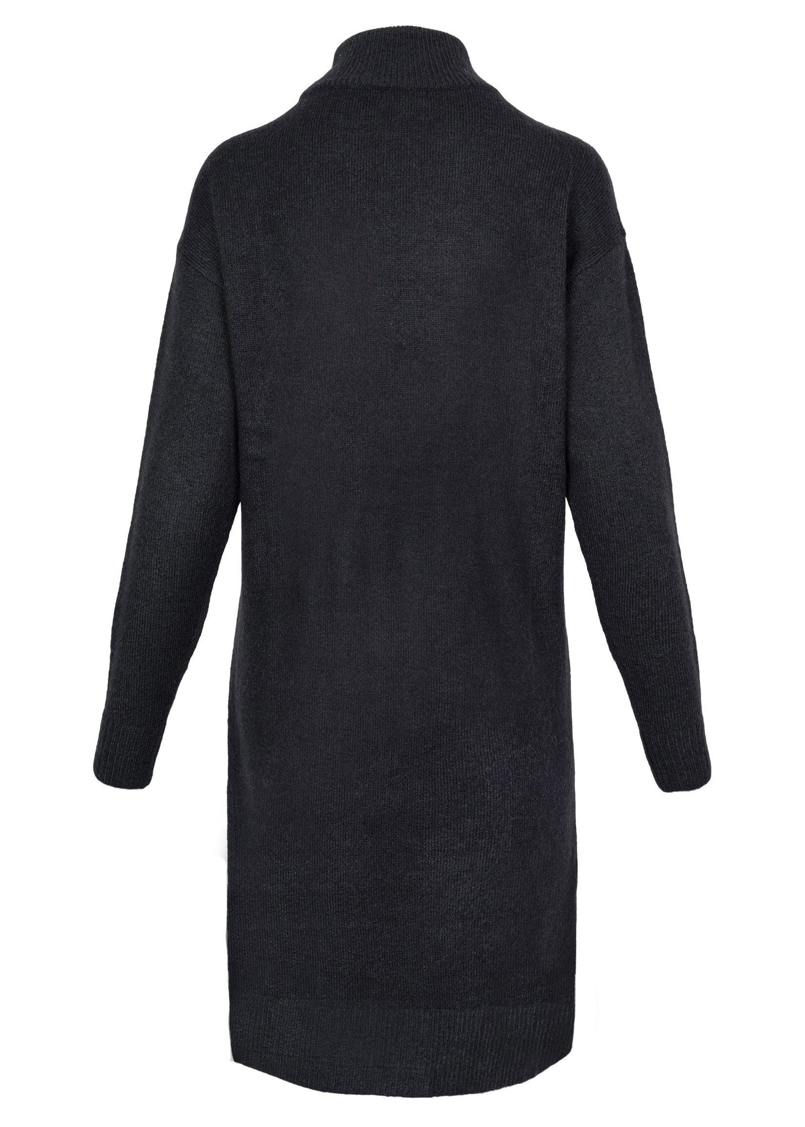 ZUSSS gebreide jurk met col en split zwart