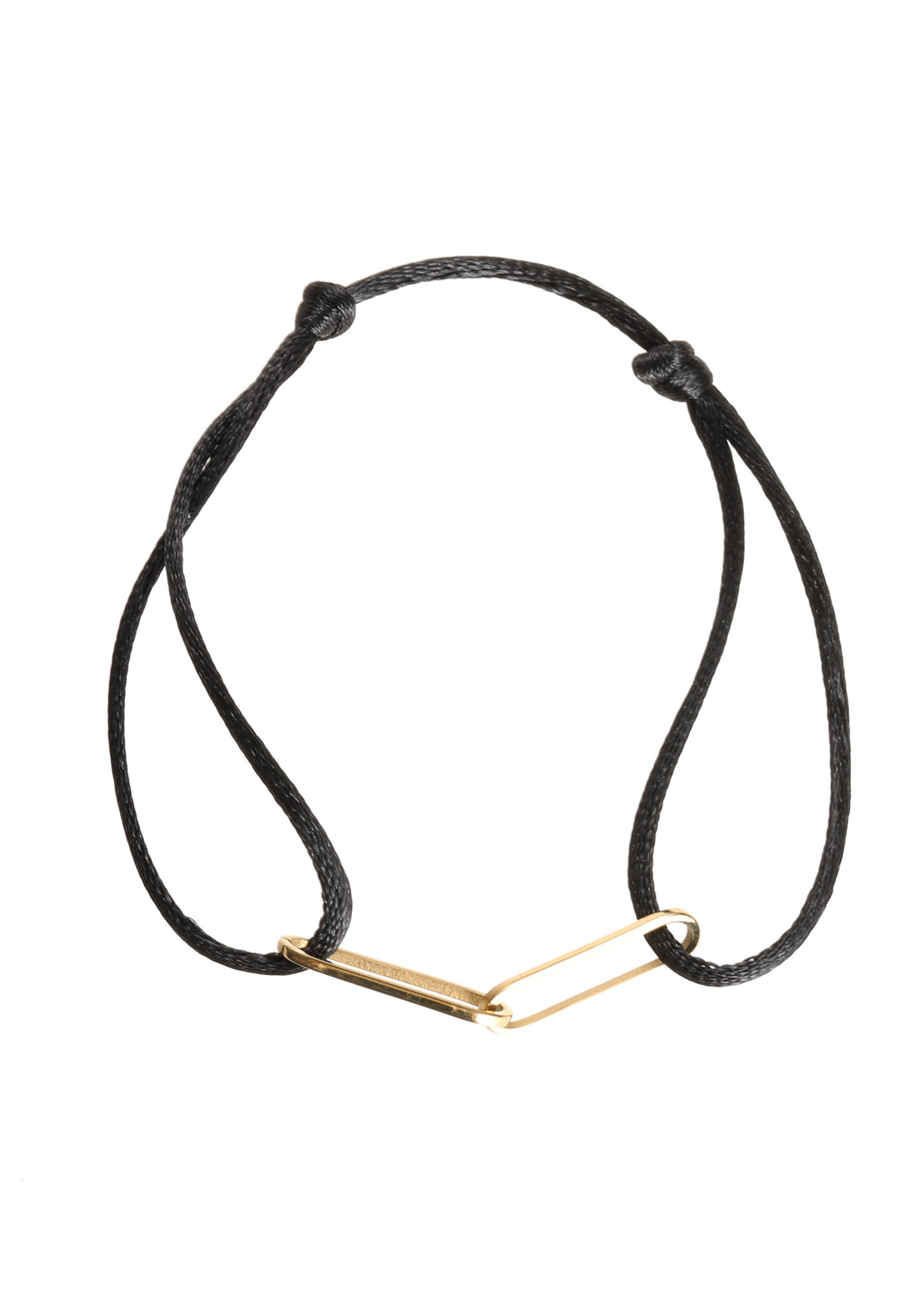 Armband goud/ zwart B1409-07