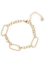 Armband goud verschillende schakels B1709-2