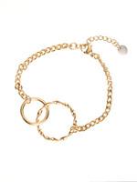 Armband goud grof met 2 ringen B1710-2