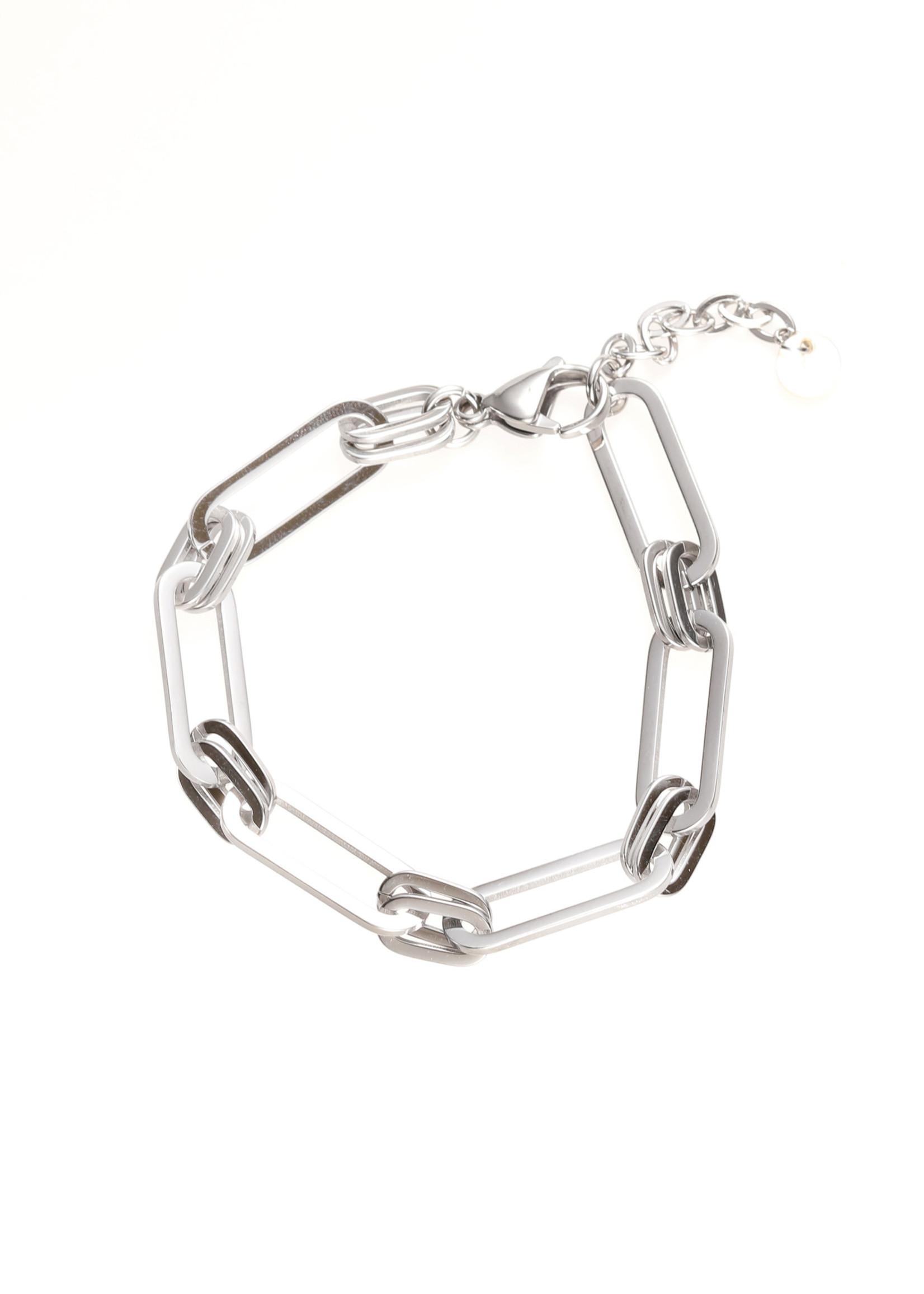 Armband zilver ovale schakel B1731-1