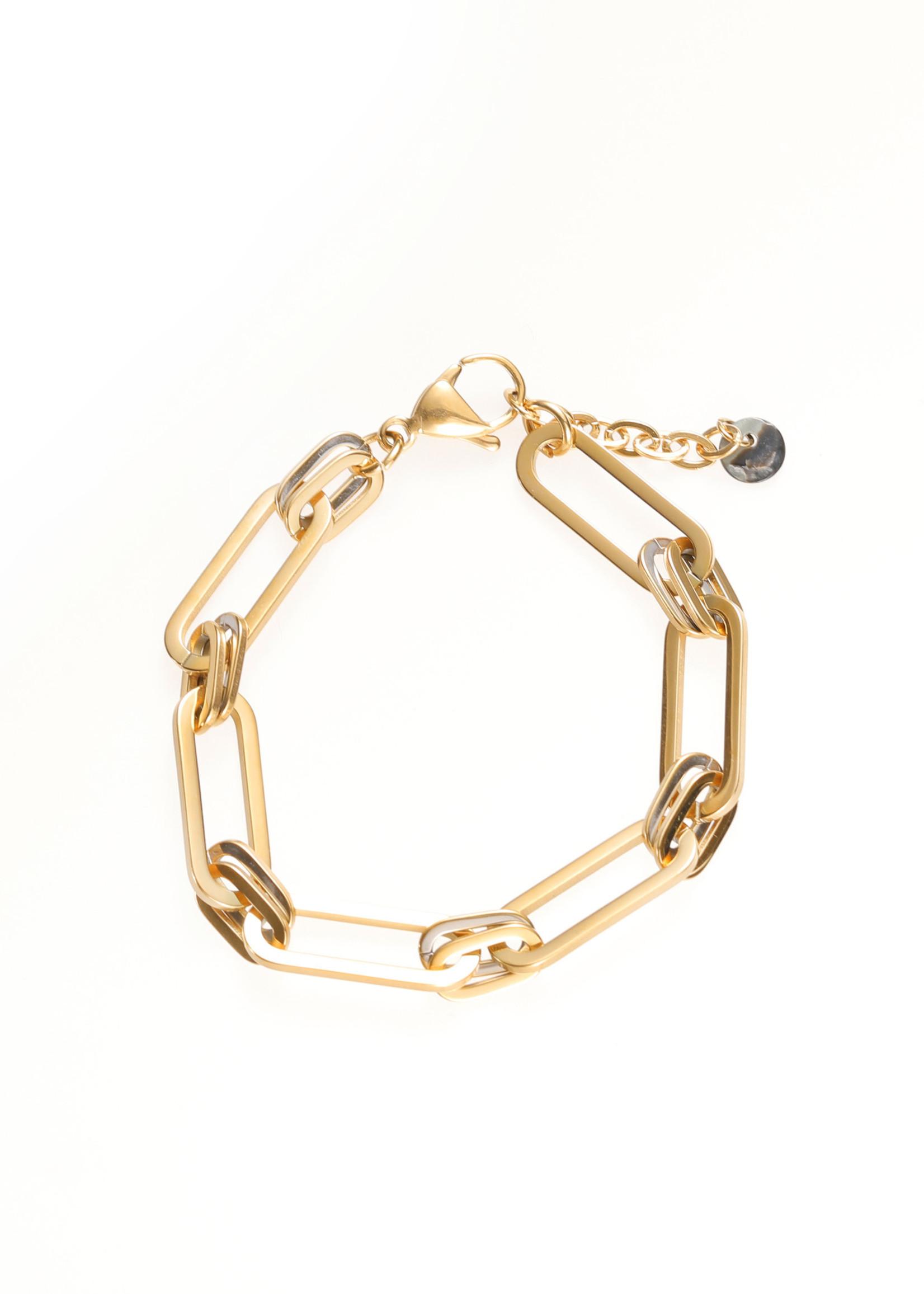 Armband goud ovale schakel B1731-2