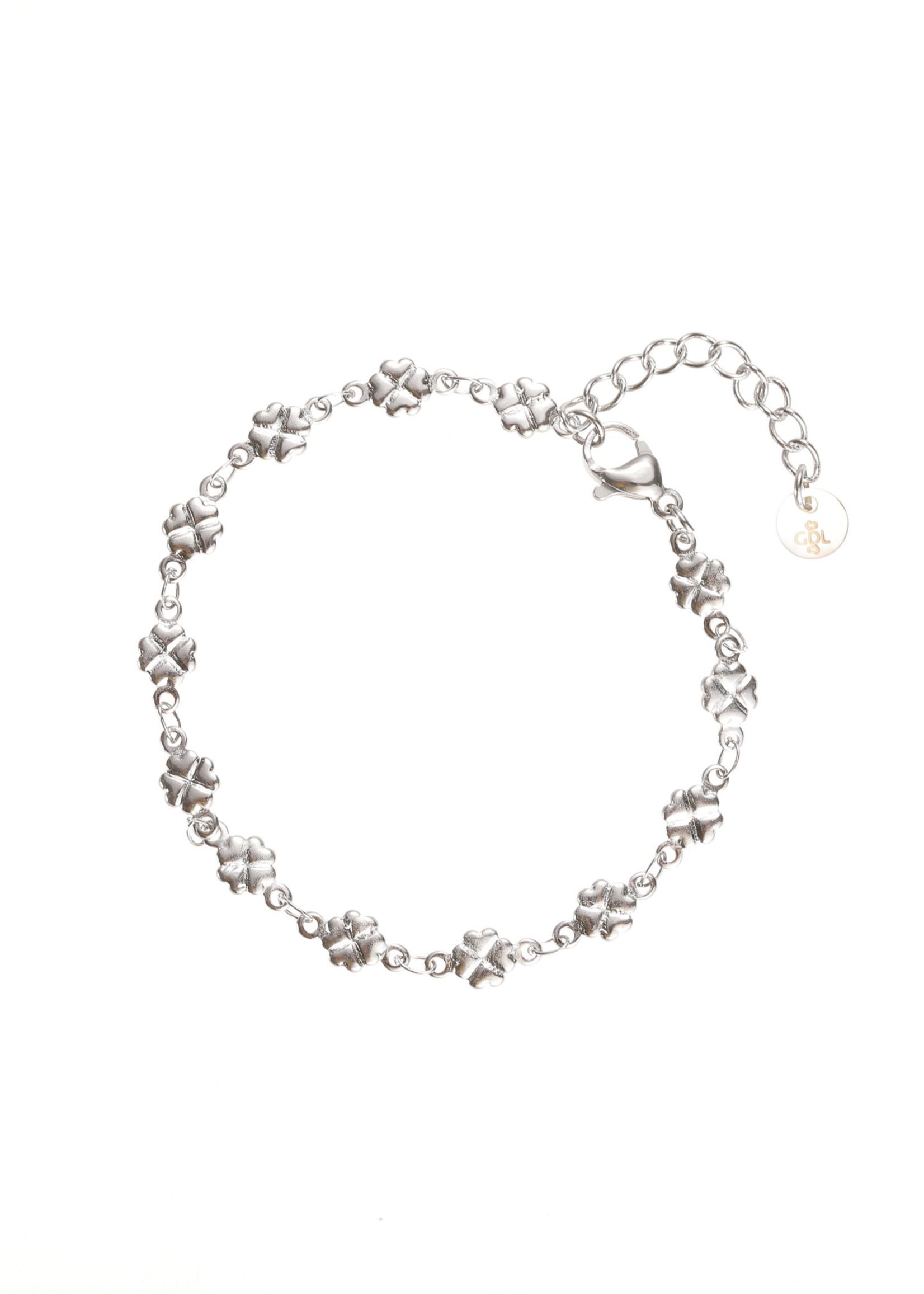 Armband zilver klavertjesvier B1733-1