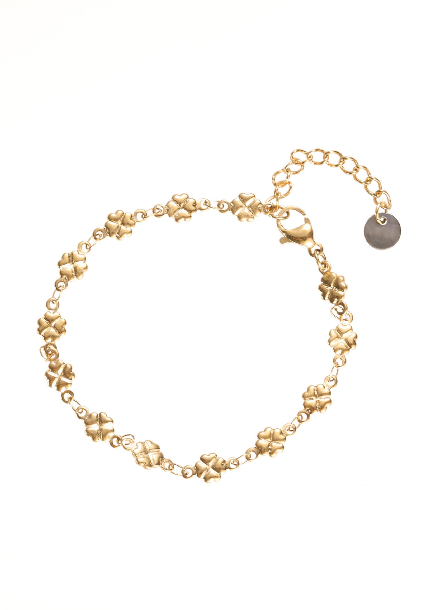 Armband goud klavertjesvier B1733-2