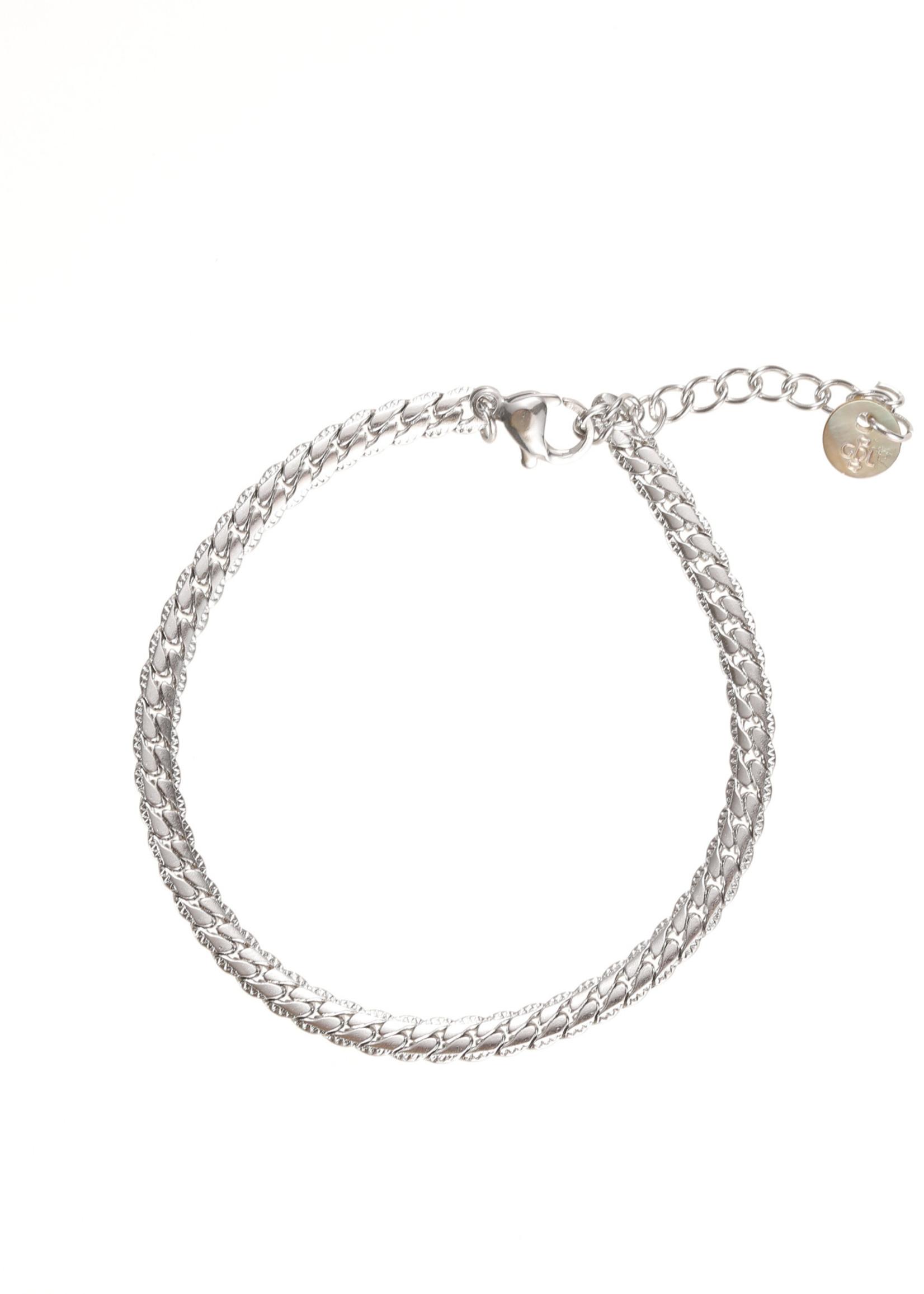 Armband zilver schakel B1746-1