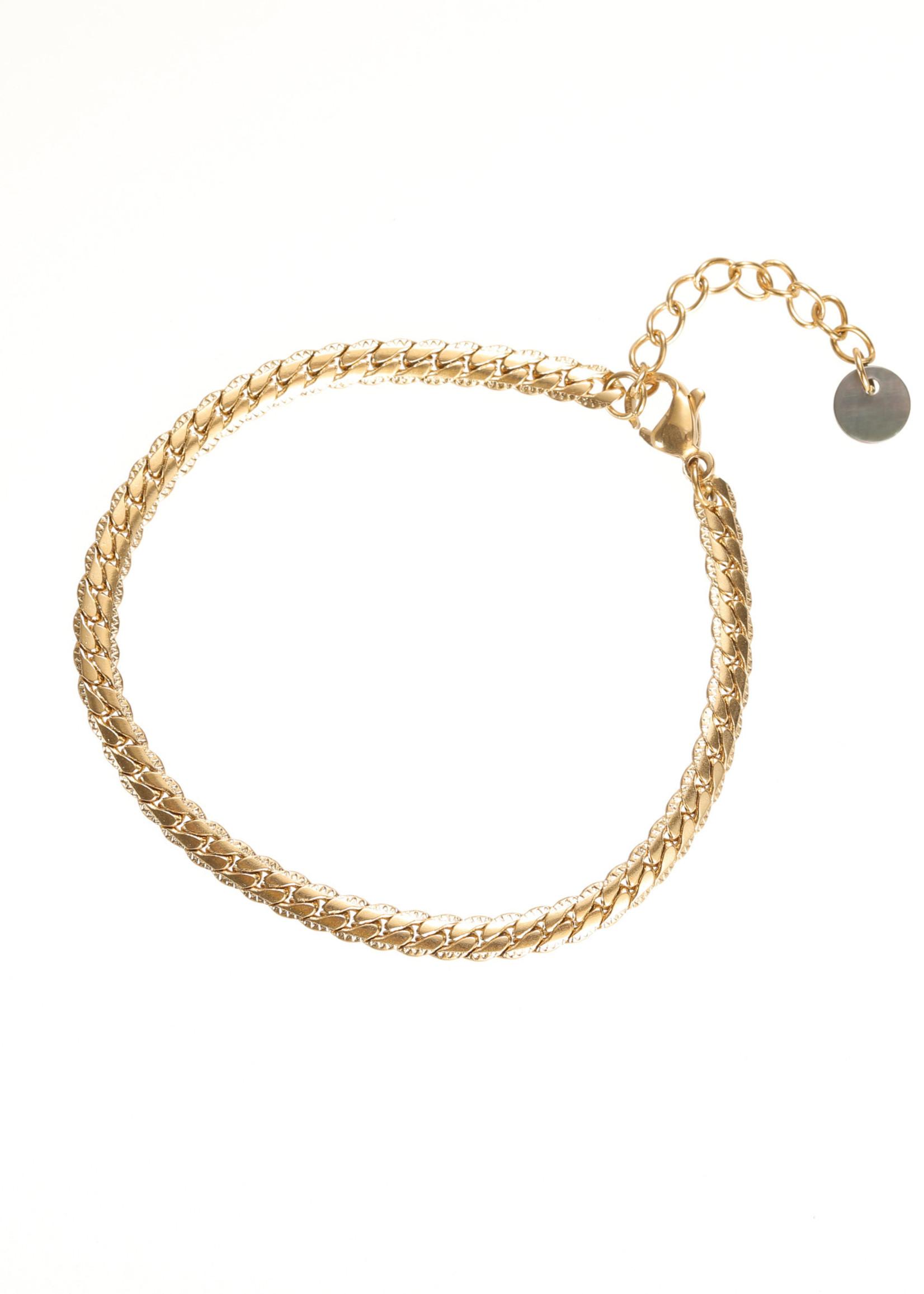 Armband goud schakel B1746-2