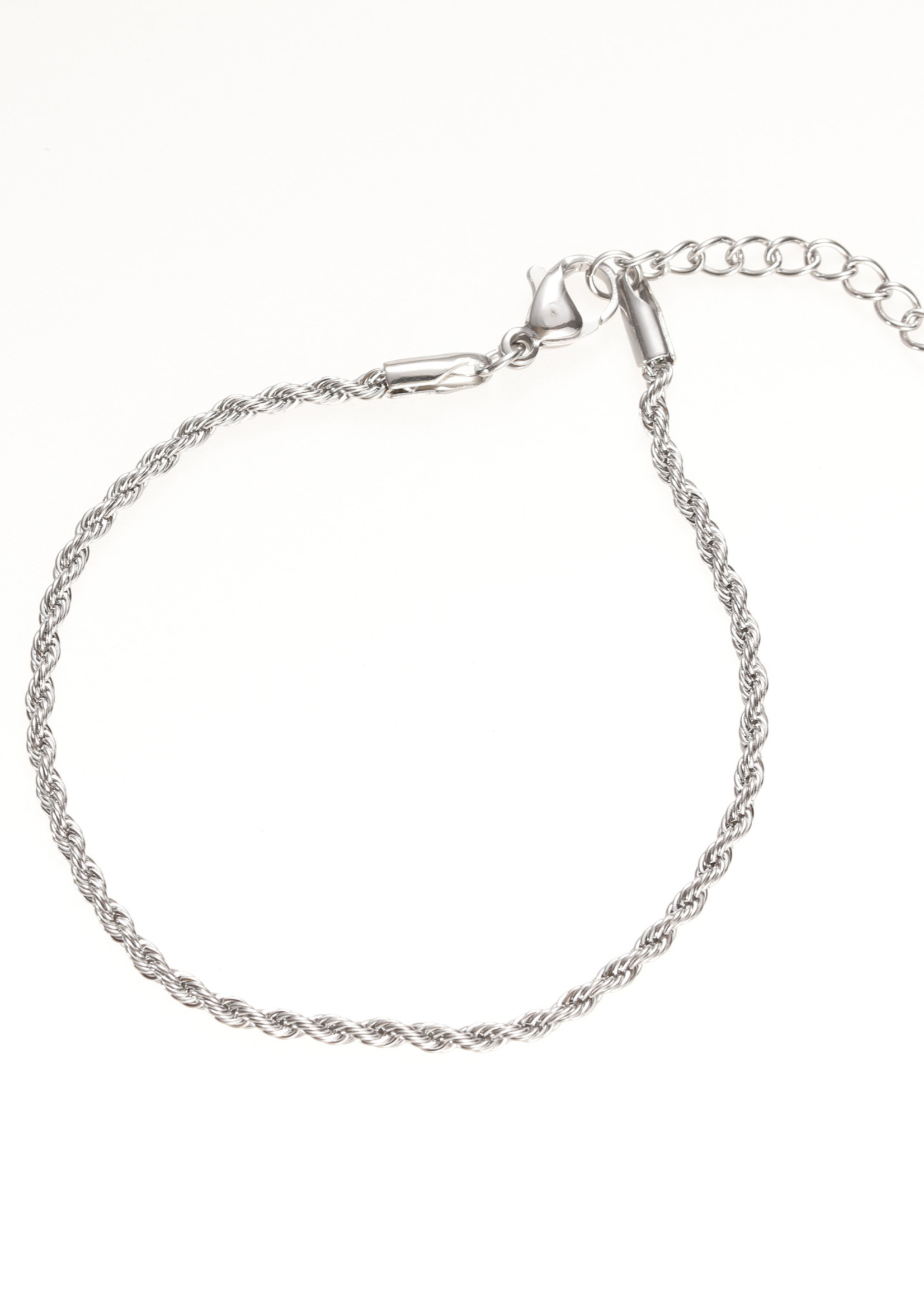 Armband zilver fijn gedraaid B1771-1