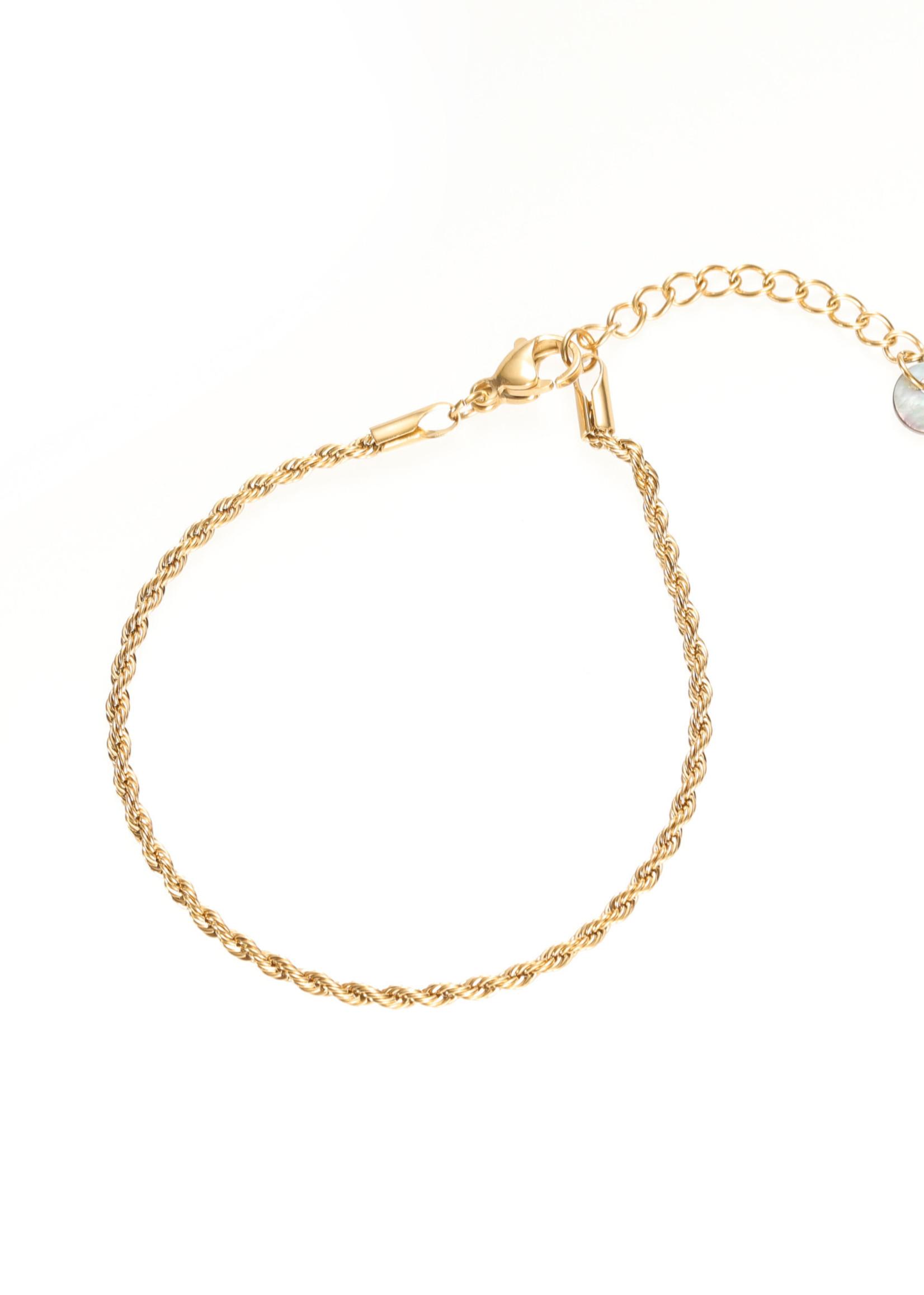 Armband goud fijn gedraaid B1771-2