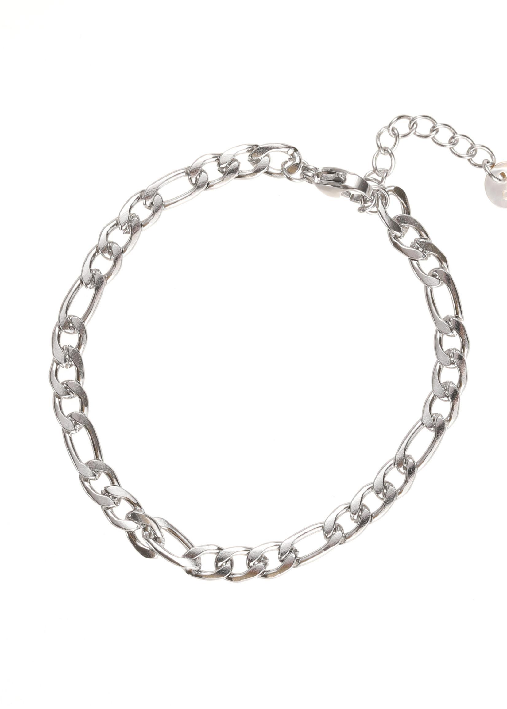 Armband zilver met verschillende schakels B1772-1