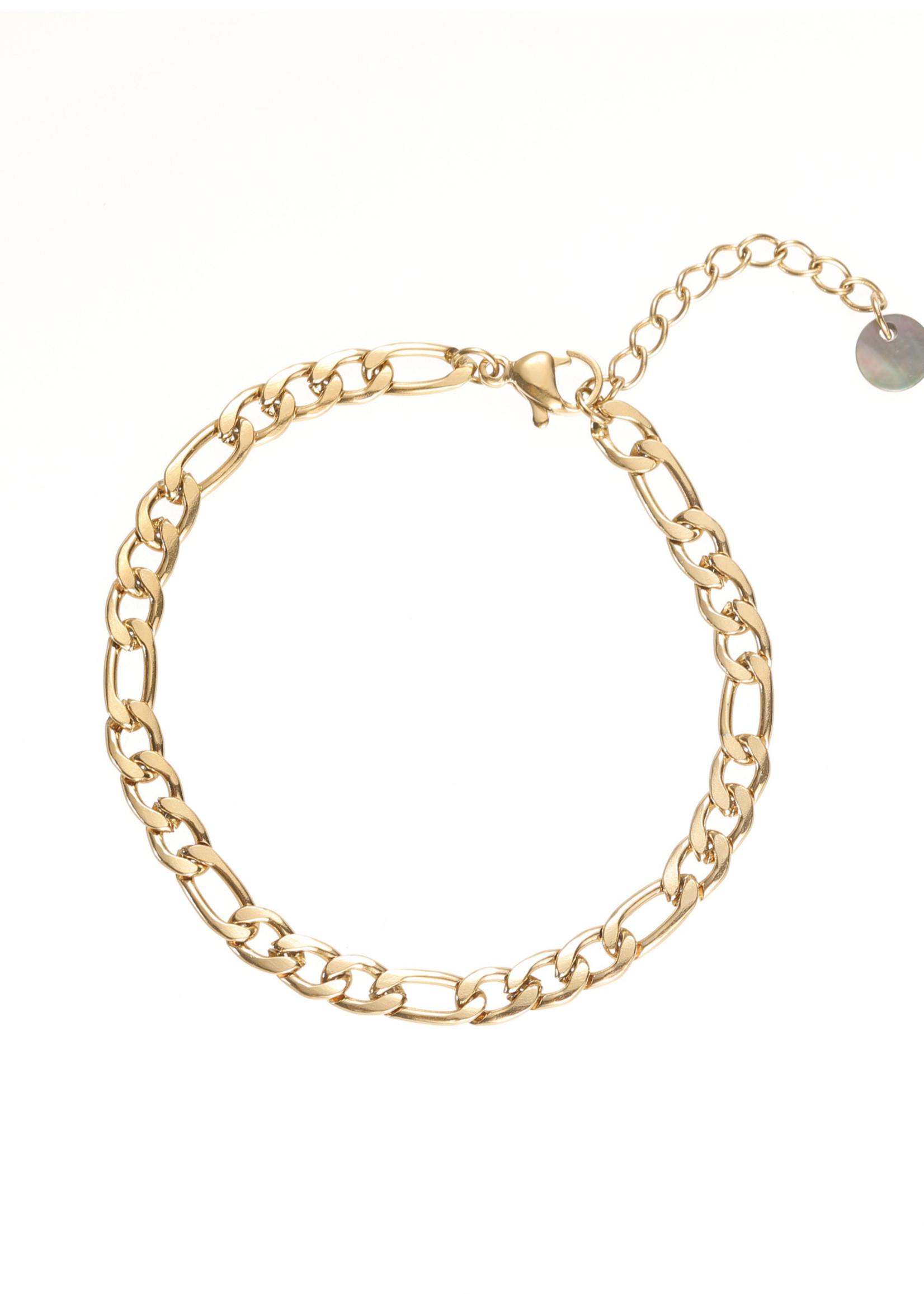 Armband goud met verschillende schakels B1772-2