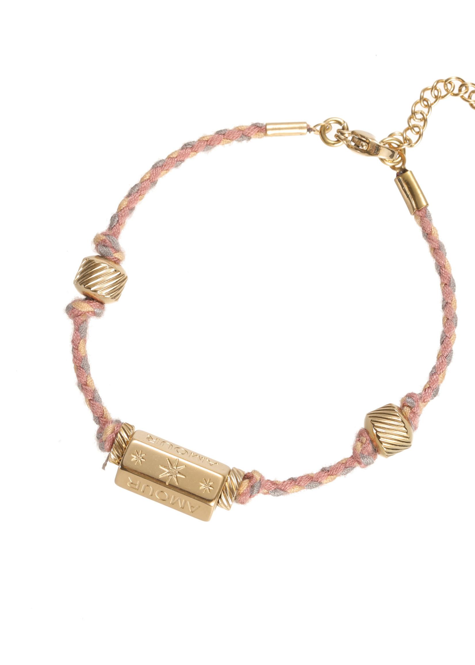 Armband goud/ gekleurd Amour B1836-2