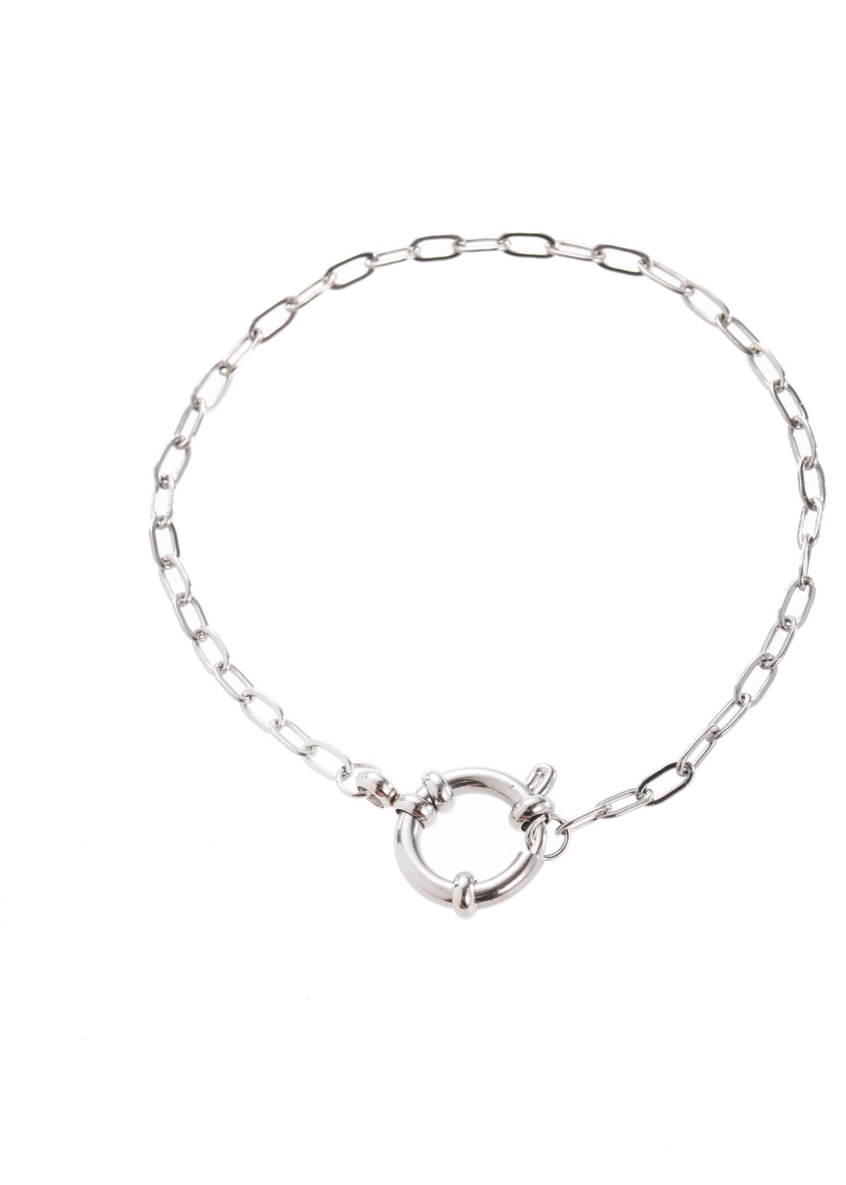 Armband zilver met grove sluiting B1839-1