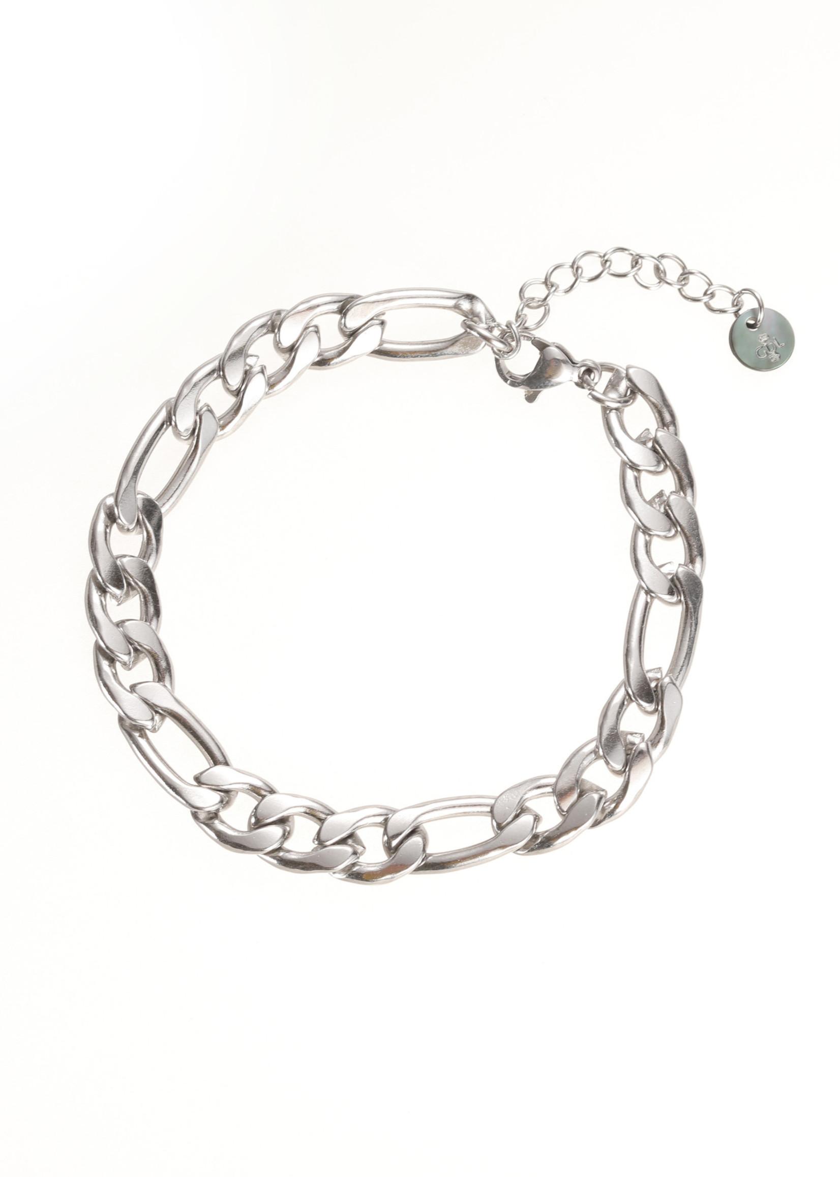 Armband zilver met verschillende schakels B1856-1
