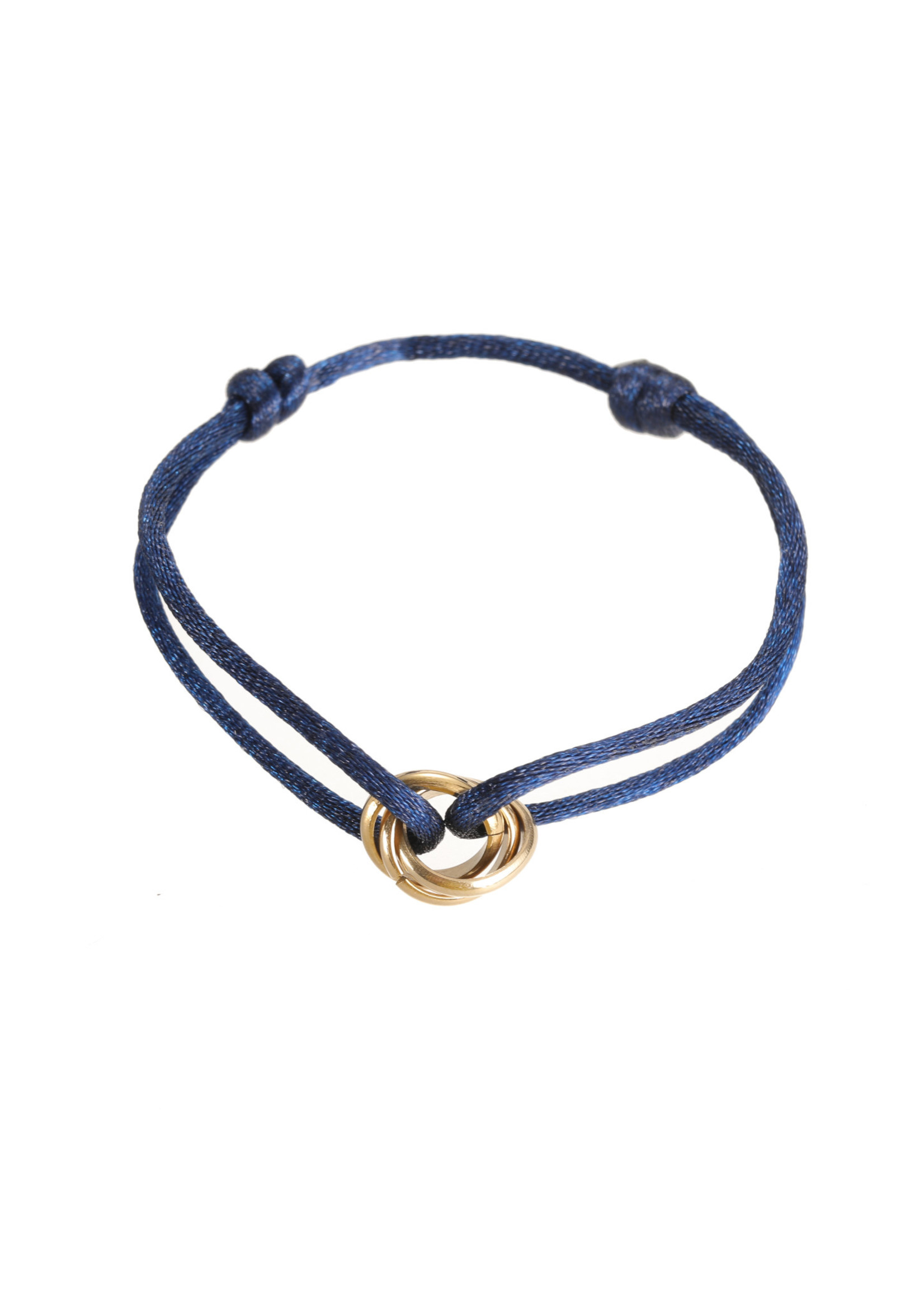 Armband goud/ blauw B1849-5
