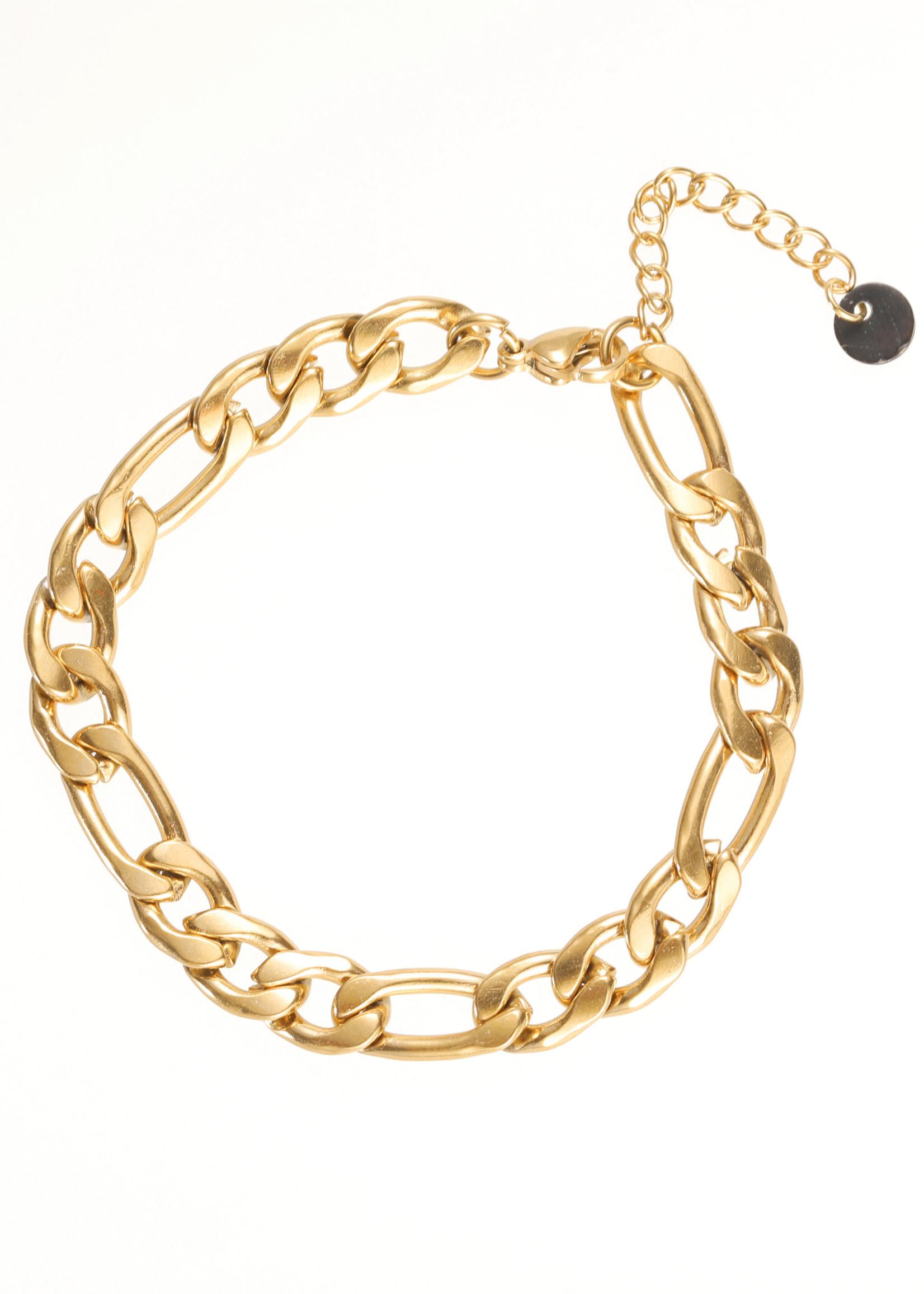 Armband goud met verschillende schakels B1856-2