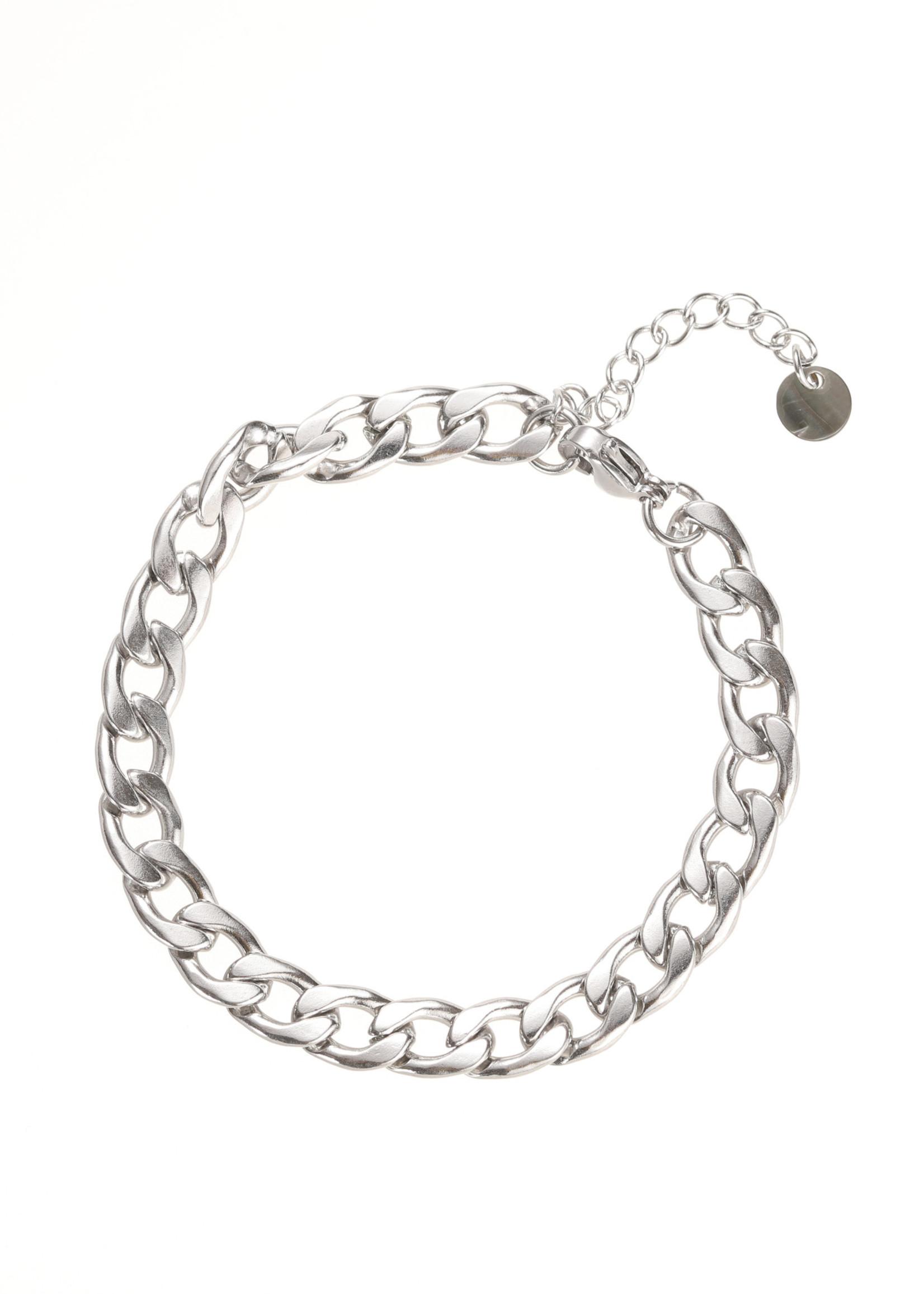Armband zilver grove schakel B1858-1